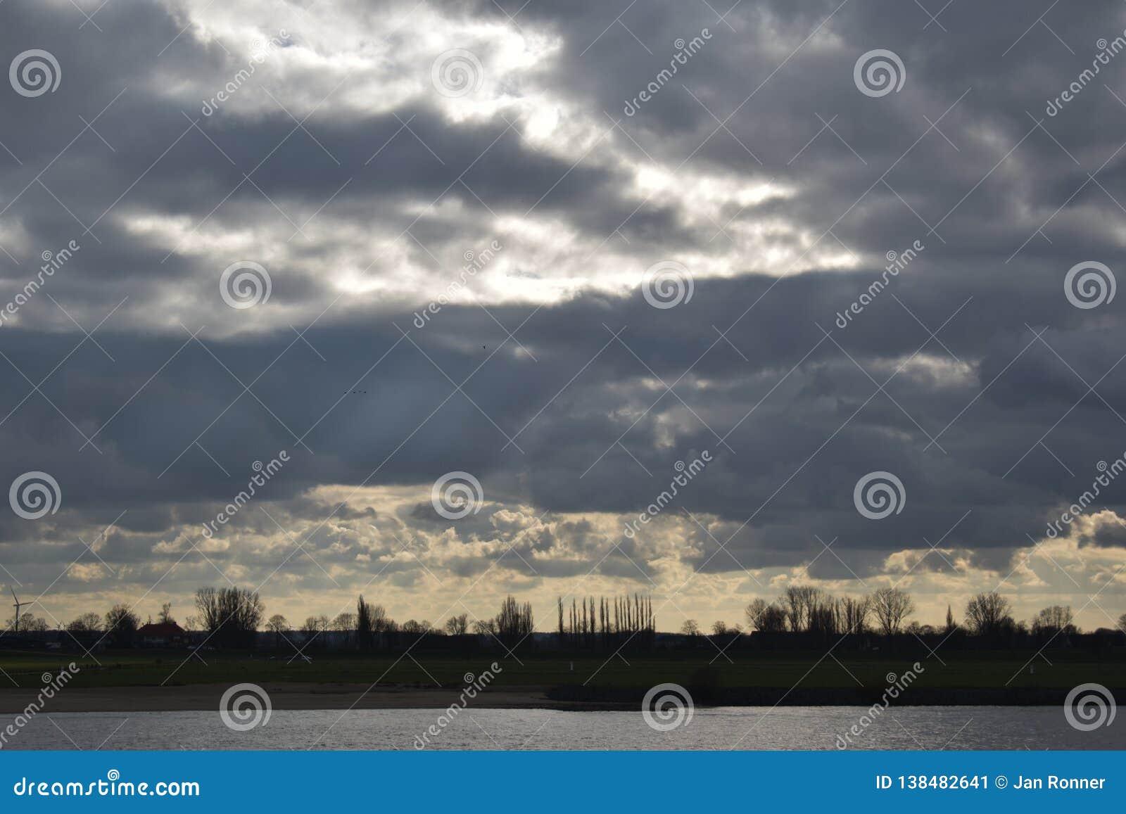 Ciel nuageux en Allemagne