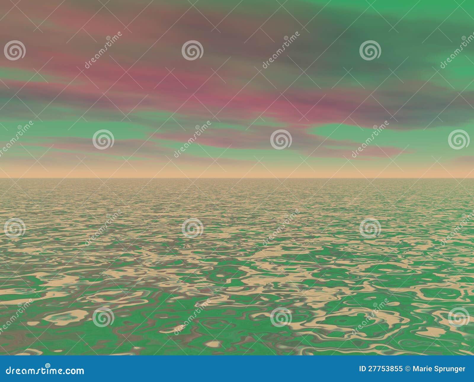 Ciel rouge et vert
