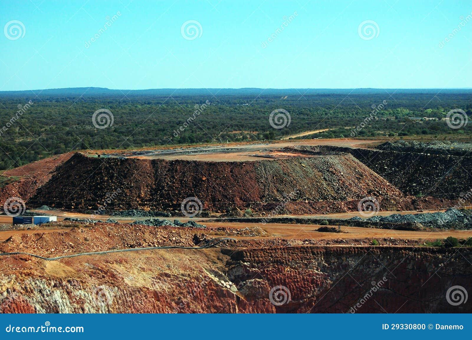 Cielo abierto de la mina de oro