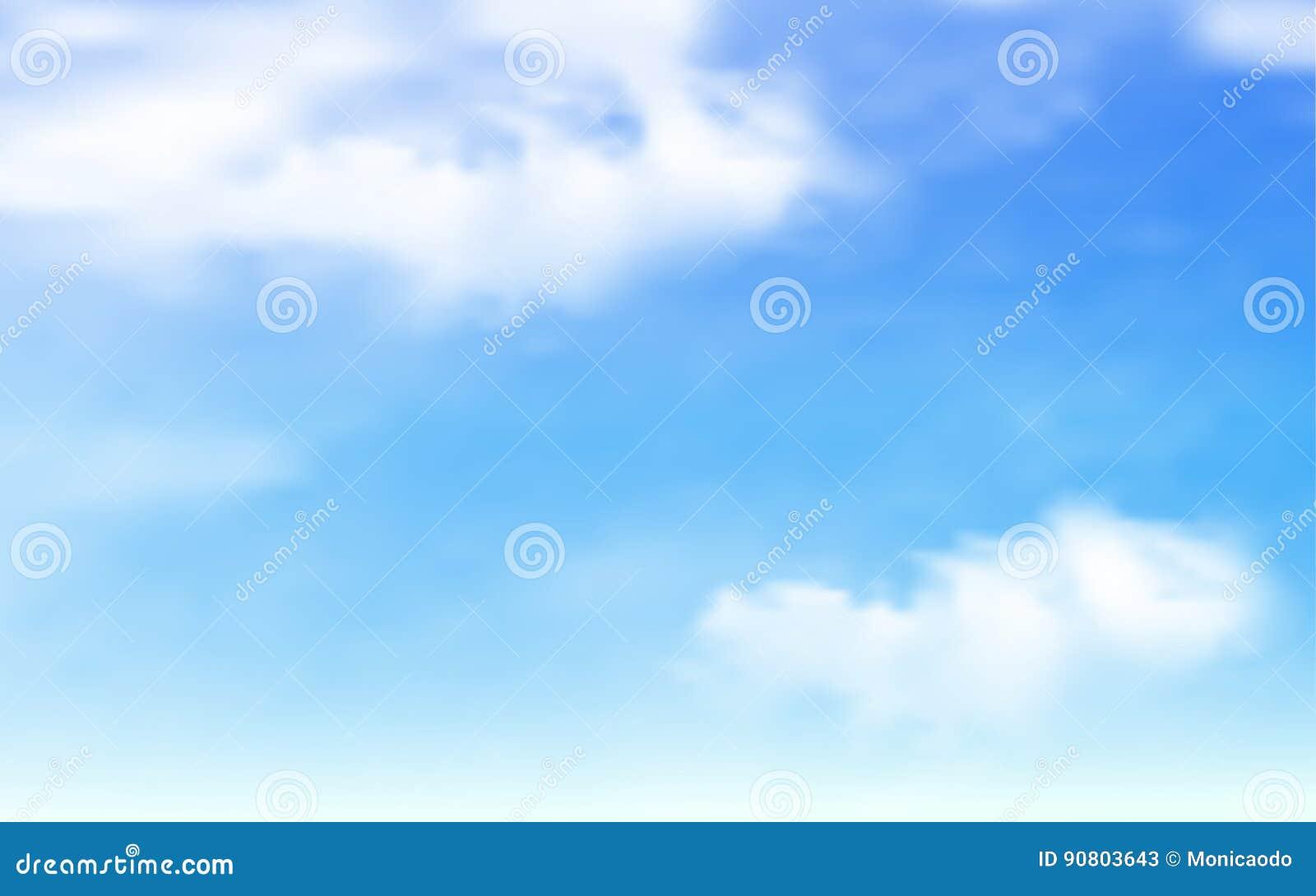 Cielo azul con el fondo de las nubes
