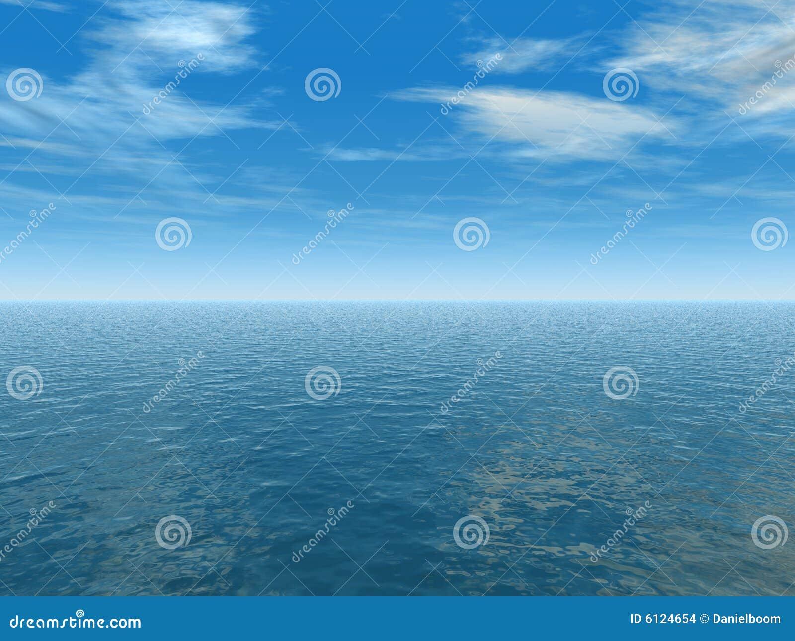Cielo azul y océano