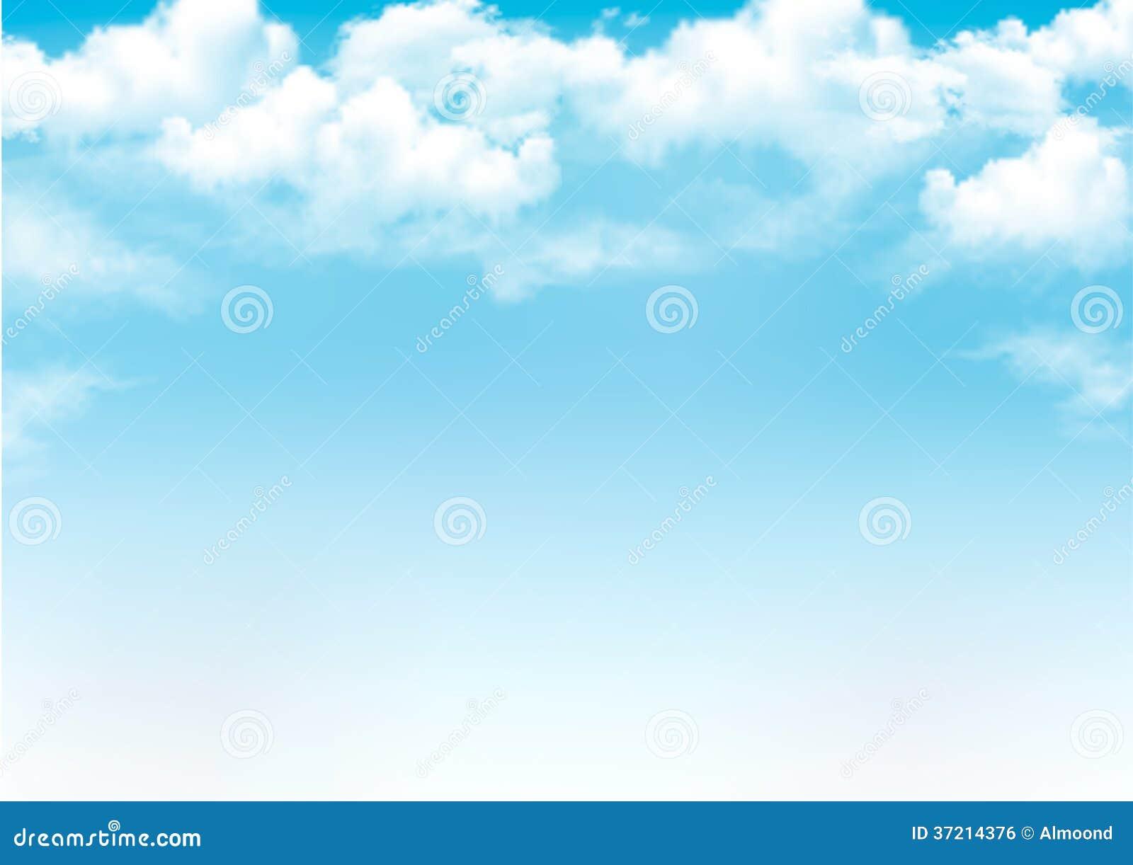 Cielo blu con le nuvole.
