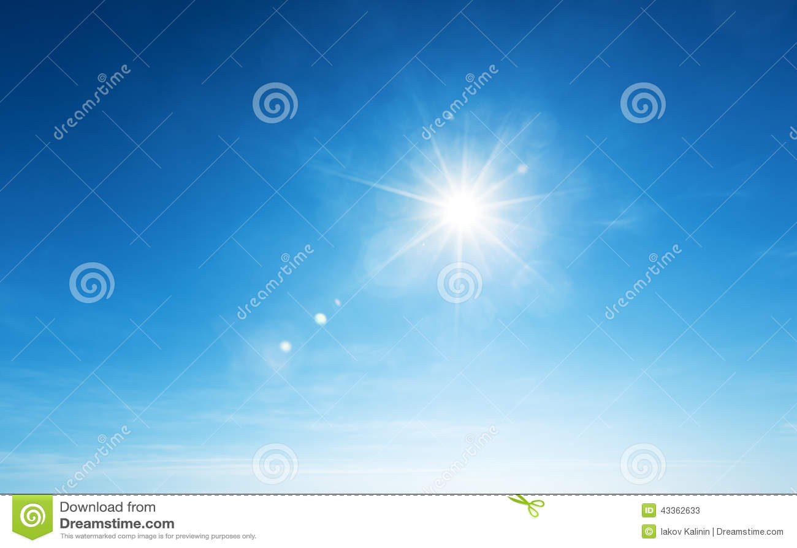 Cielo blu e sole
