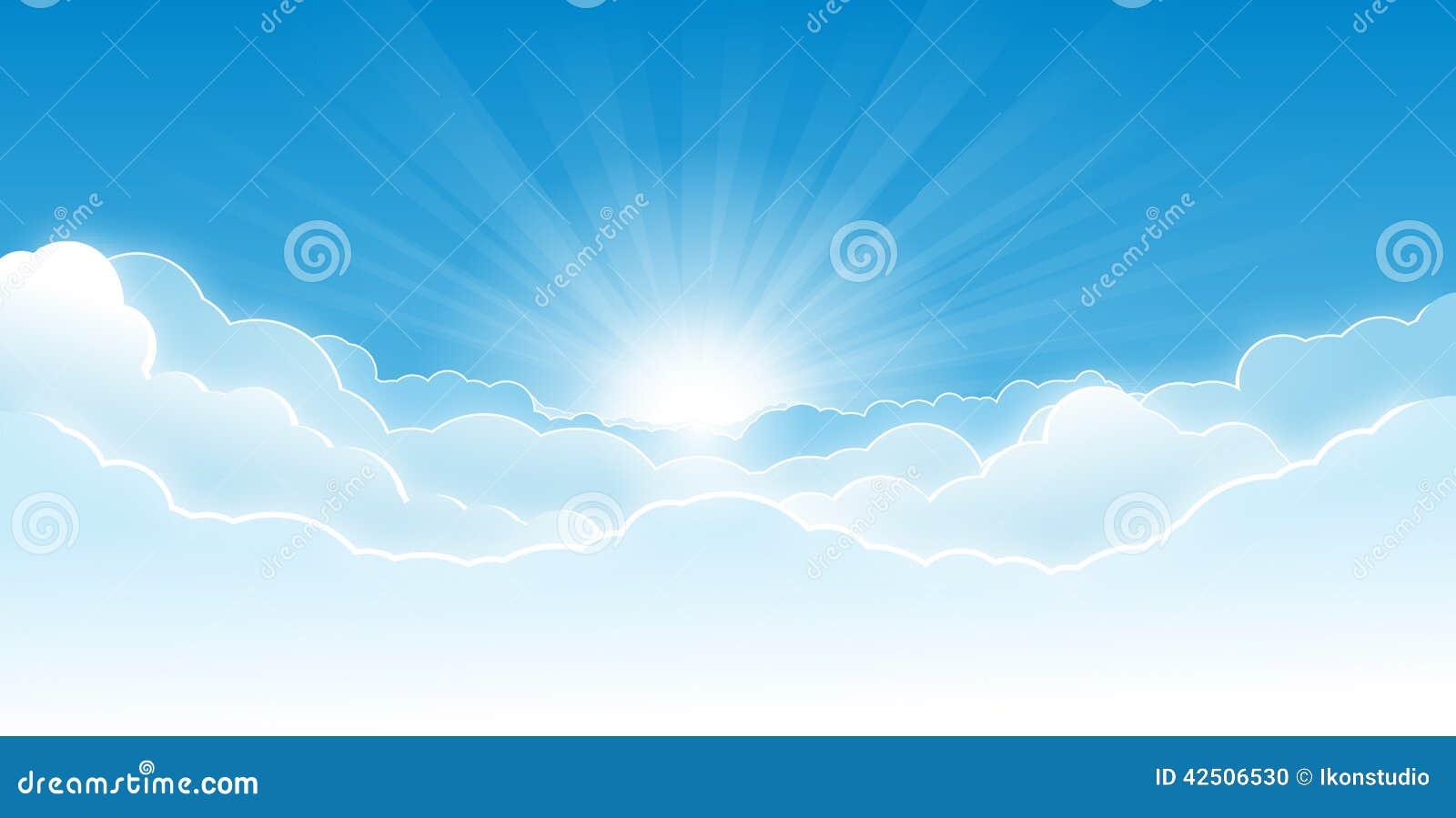 Cielo con las nubes