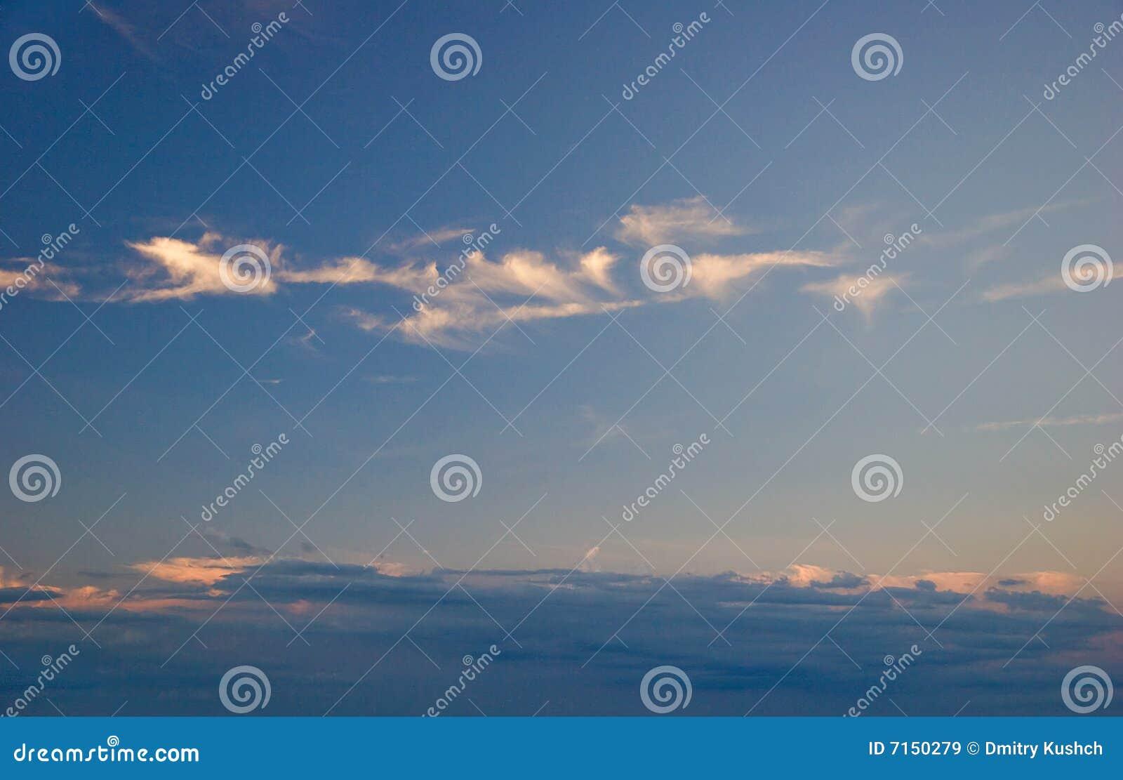 Cielo de la puesta del sol
