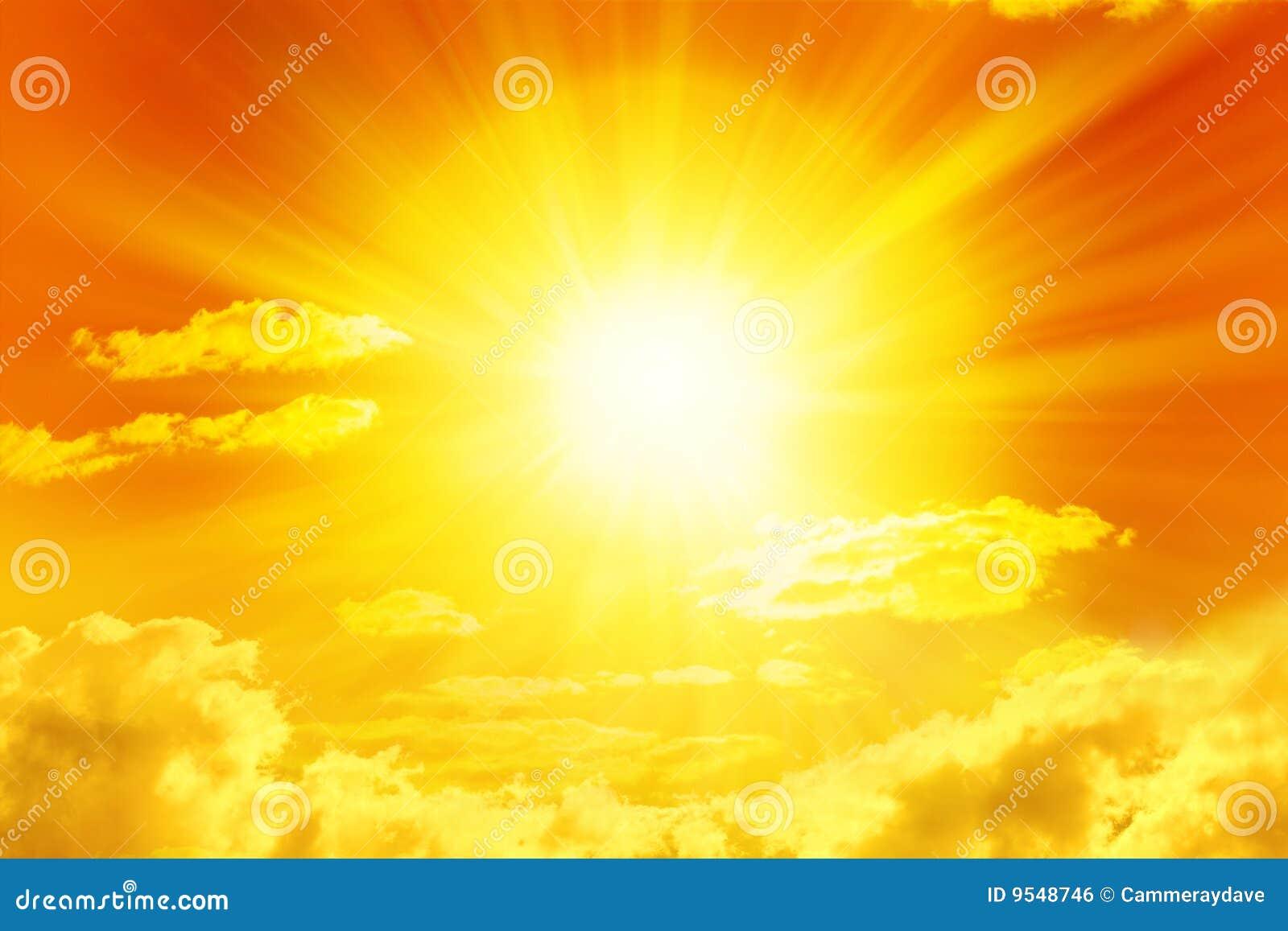 Cielo de oro de Sun