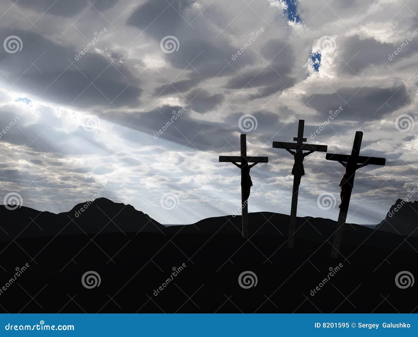 Cielo del drame e di crucifissione