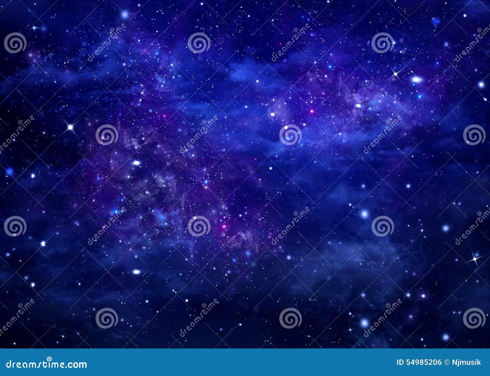 Cielo estrellado del fondo azul abstracto