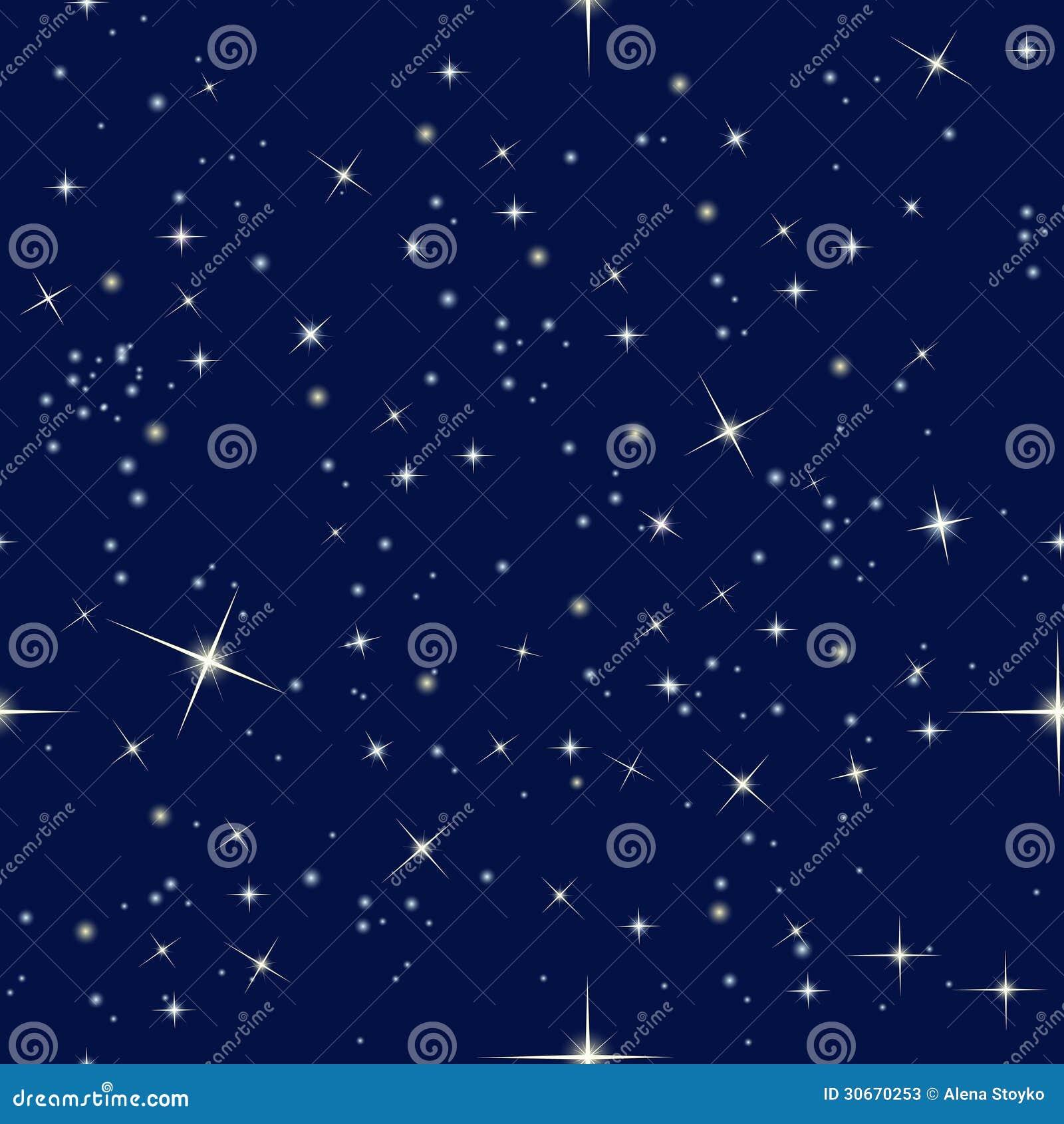 Cielo nocturno y estrellas
