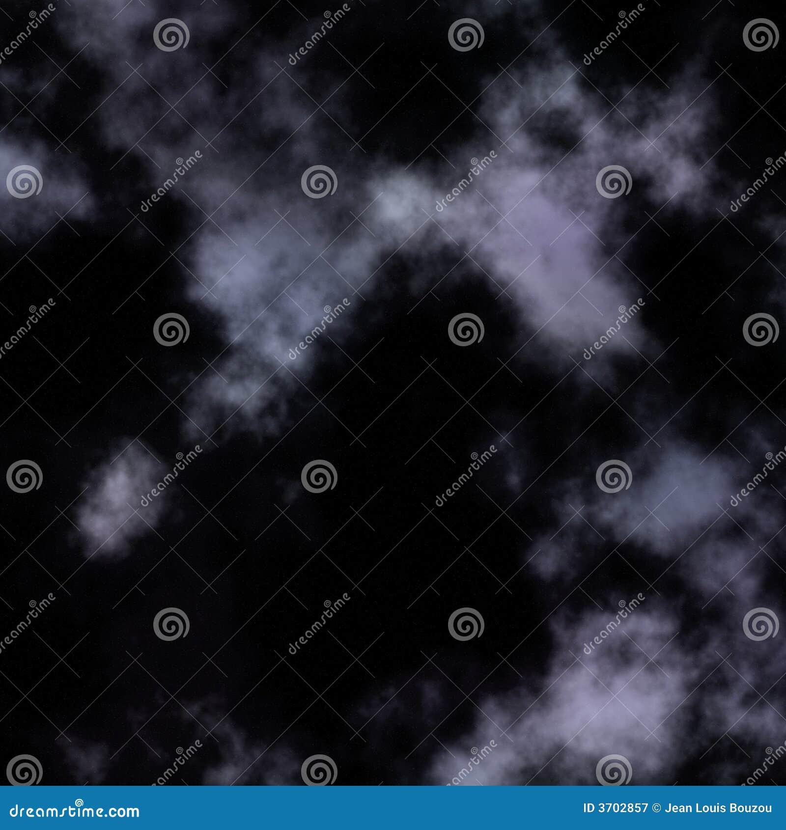 Cielo notturno nuvoloso