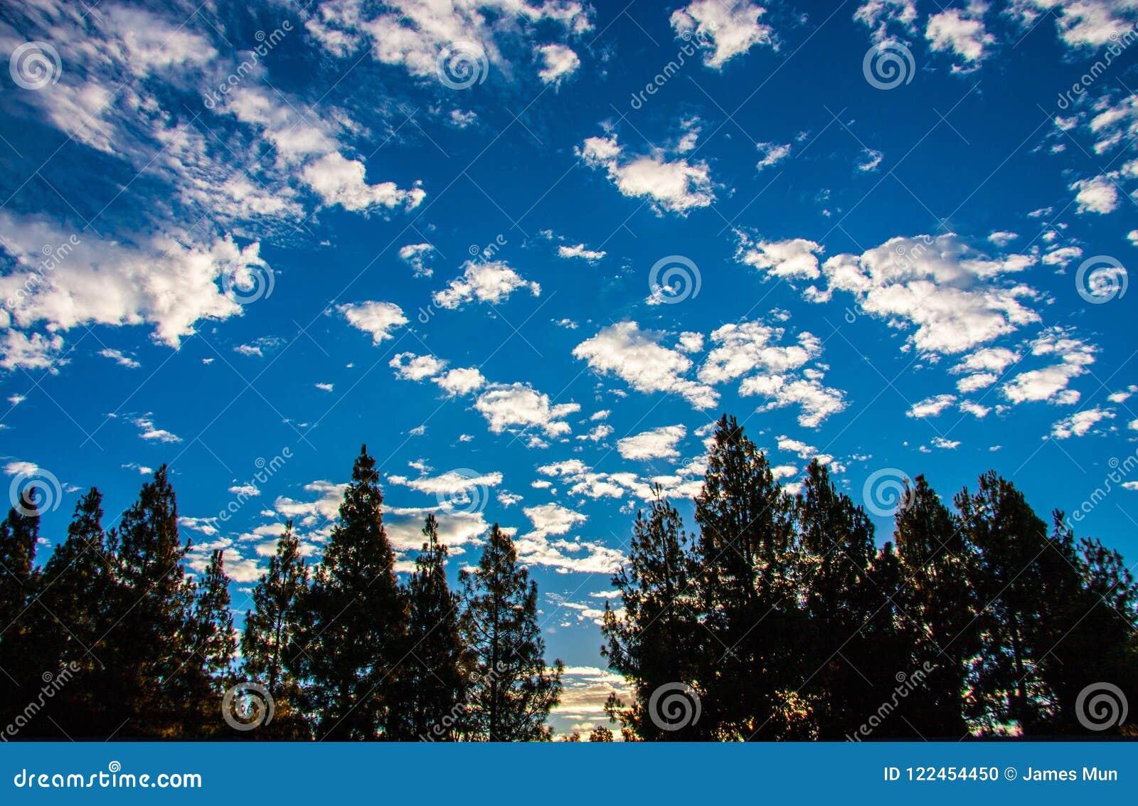 Cielo nublado hermoso en la salida del sol
