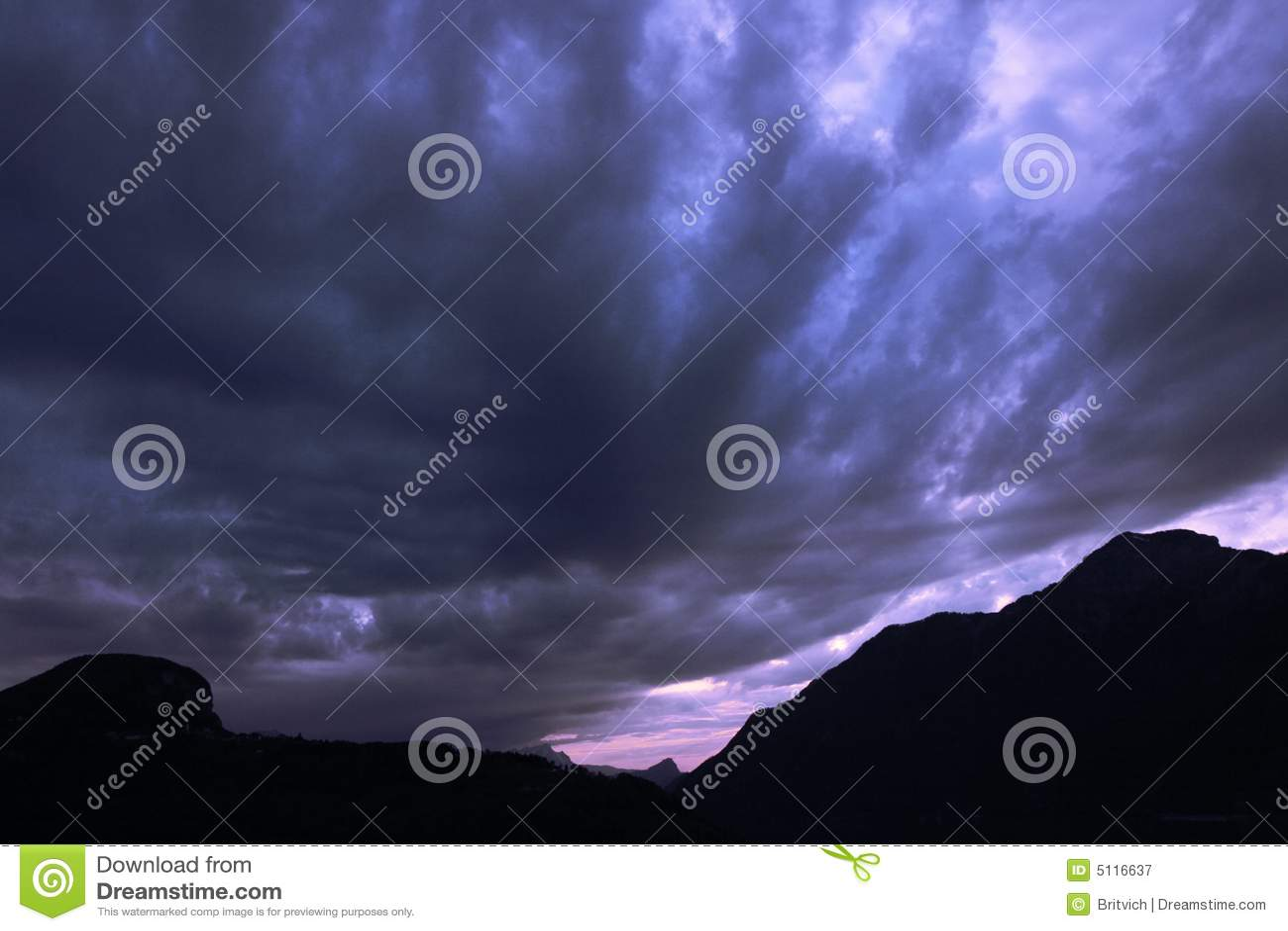 Cielo oscuro