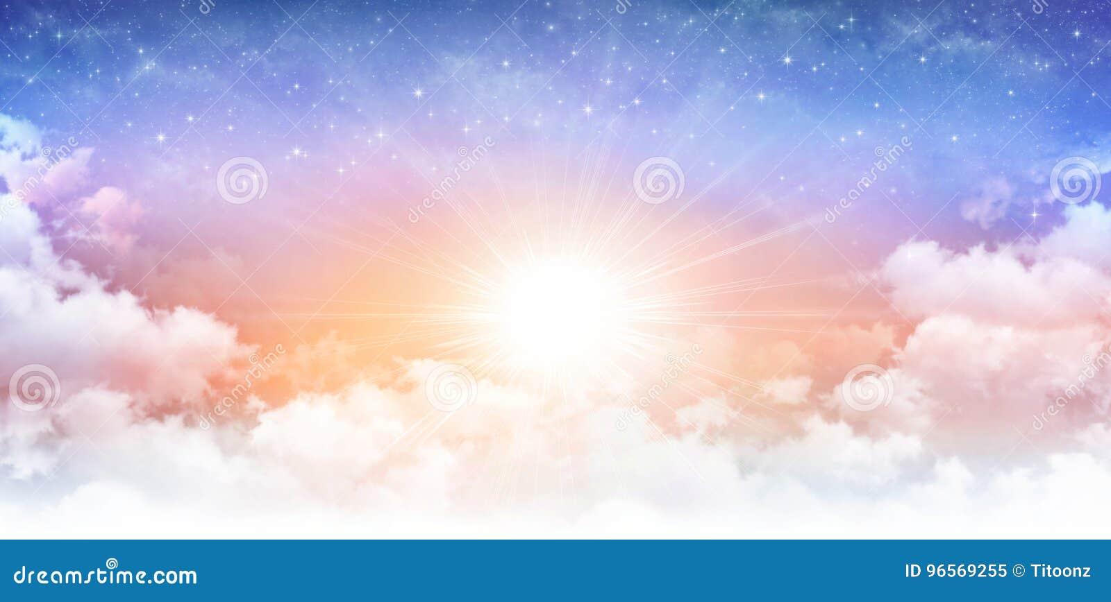 Cielo soleado divino