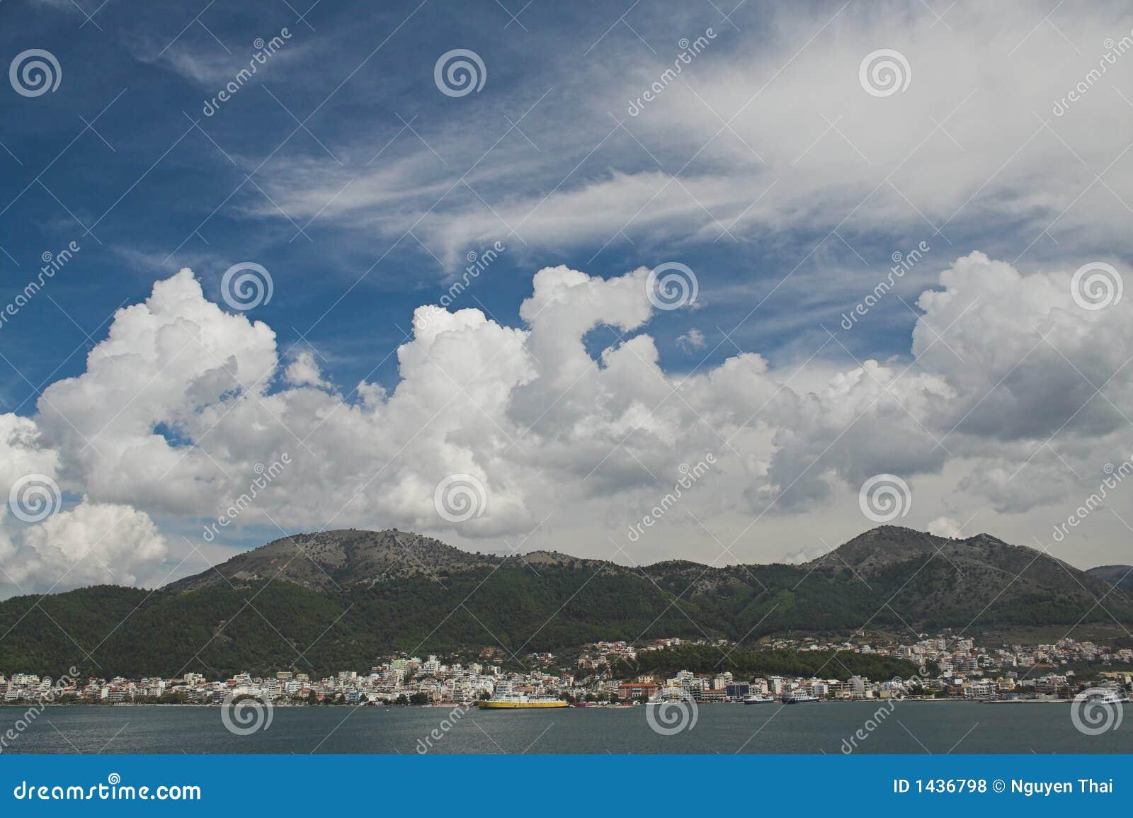 Cielo spettacolare sopra Igoumenitsa