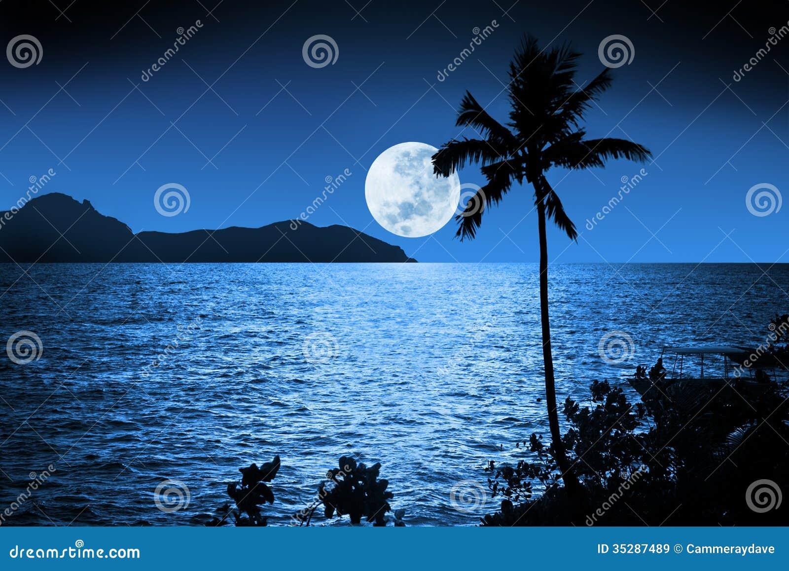 Cielo tropical de la Luna Llena