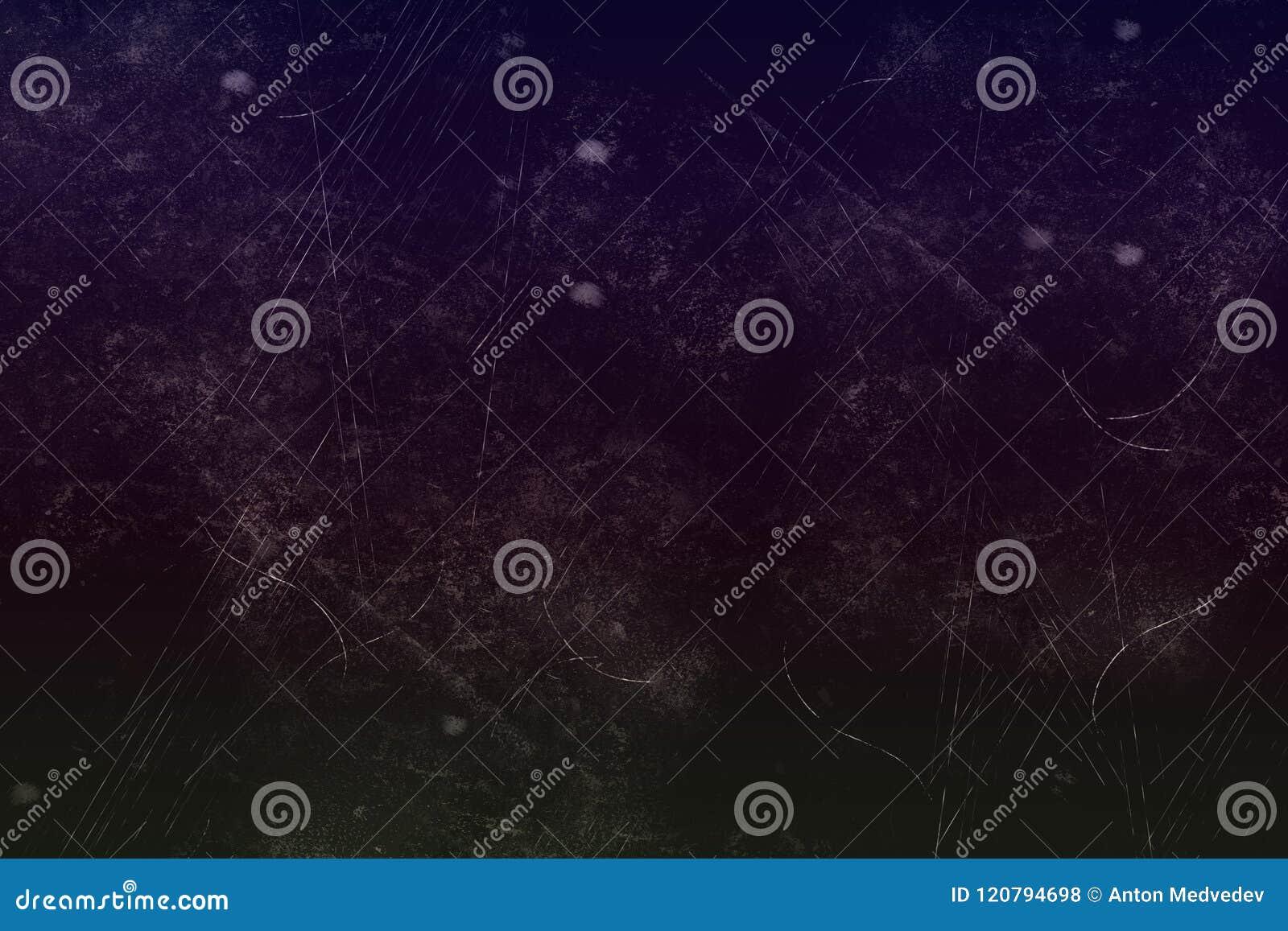 Ciemna abstrakcjonistyczna tekstura z pyłem i narysy, dla jakaś purposes, możemy używać jako tło wzór