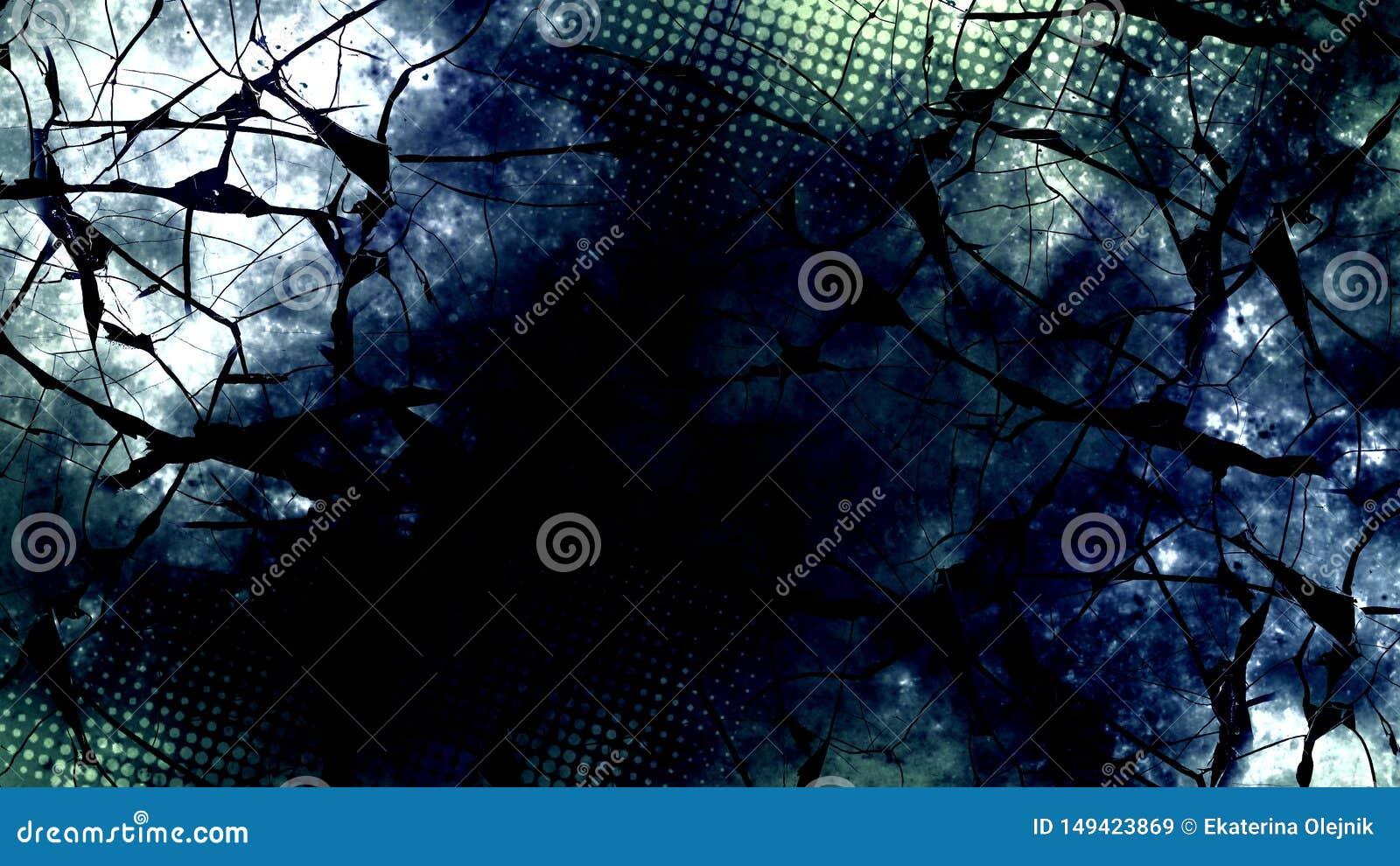 Ciemna cyfrowa abstrakcjonistyczna tapeta