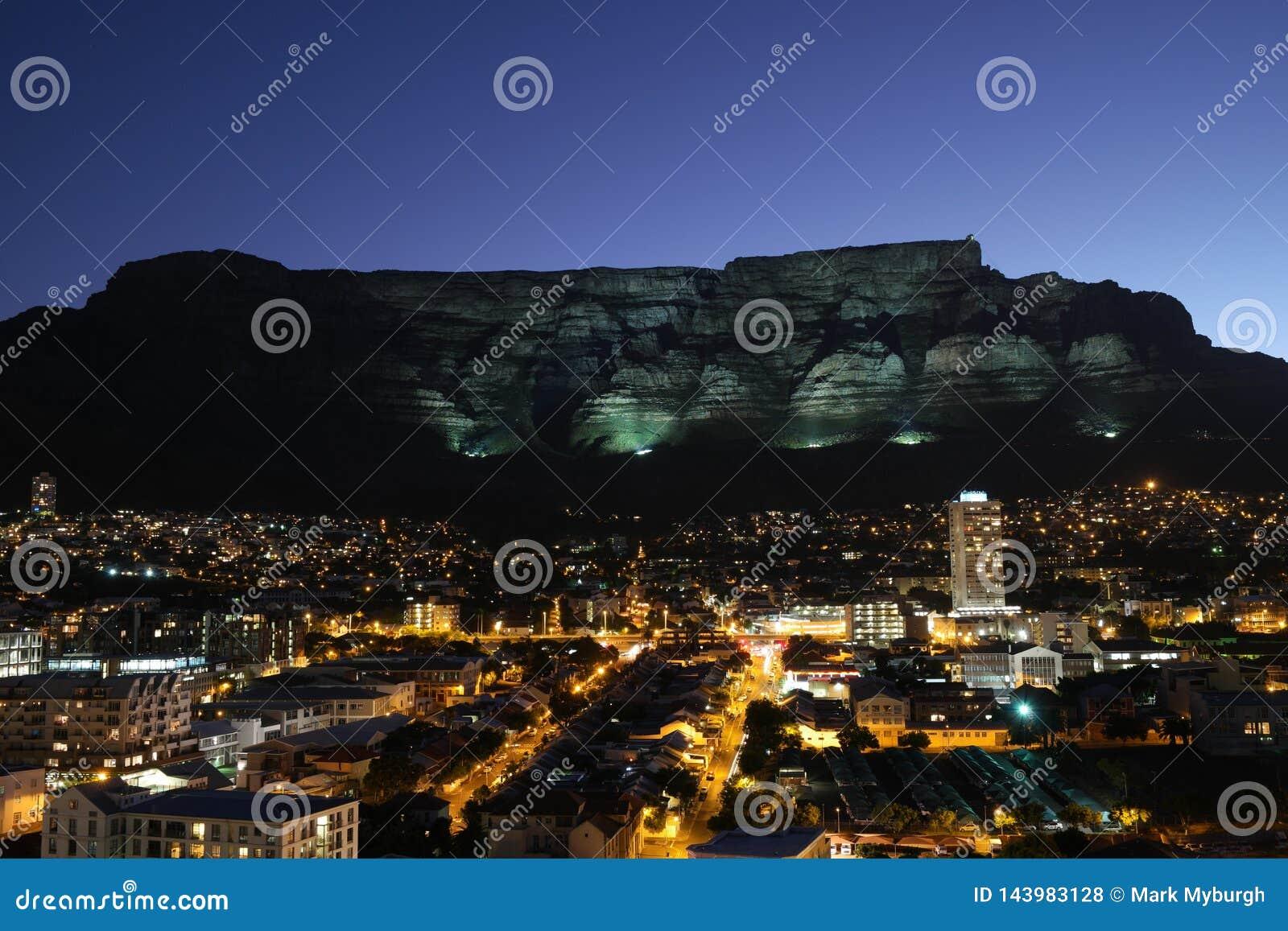 Ciemność komesi miasto Kapsztad