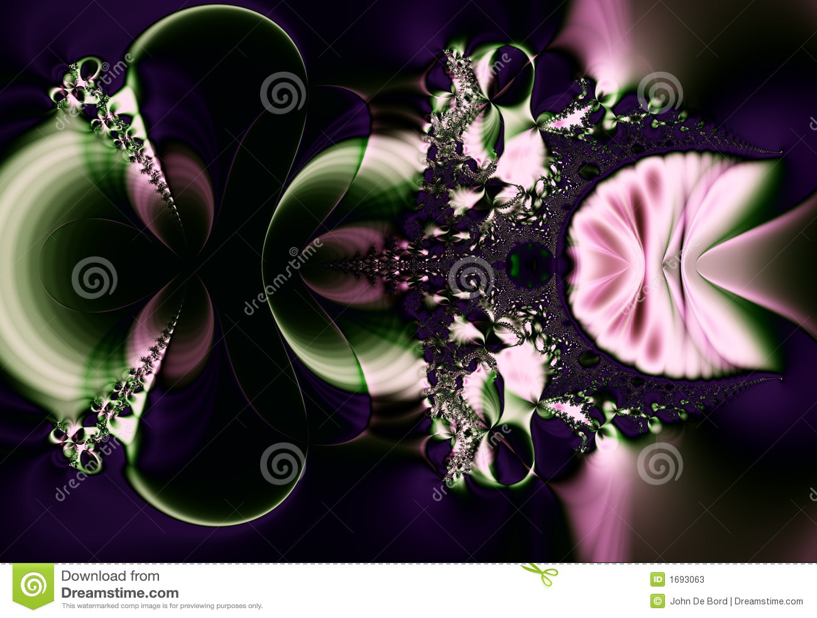 Ciemno fractal abstrakcyjne