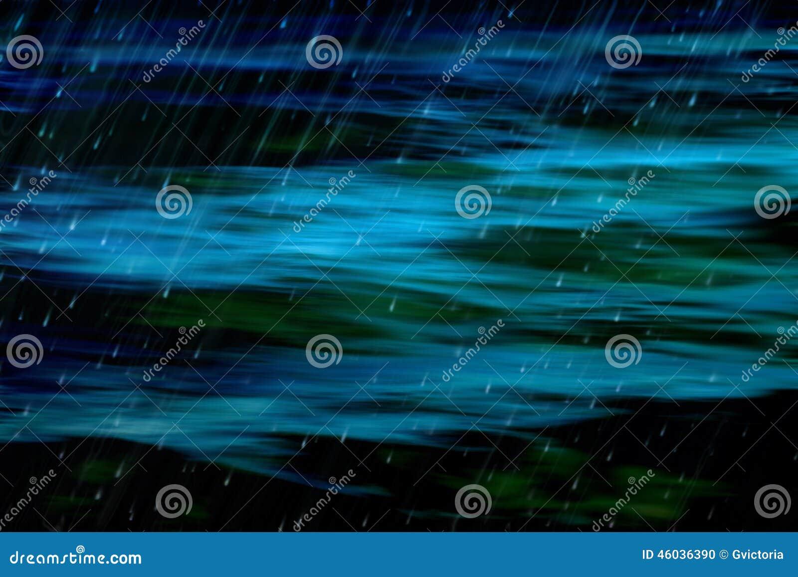 Ciemny abstrakcjonistyczny ocean i deszcz