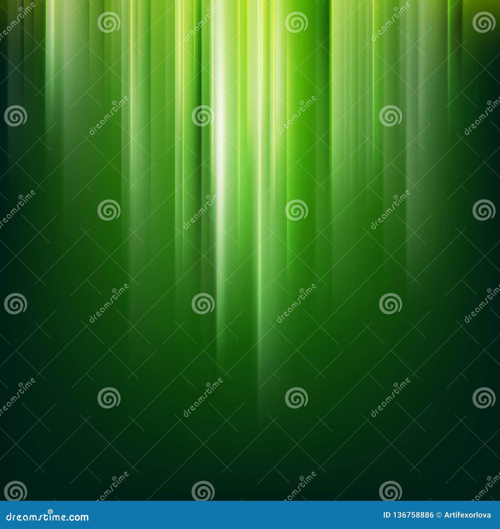 Ciemny abstrakt zieleni magii światła tło 10 eps