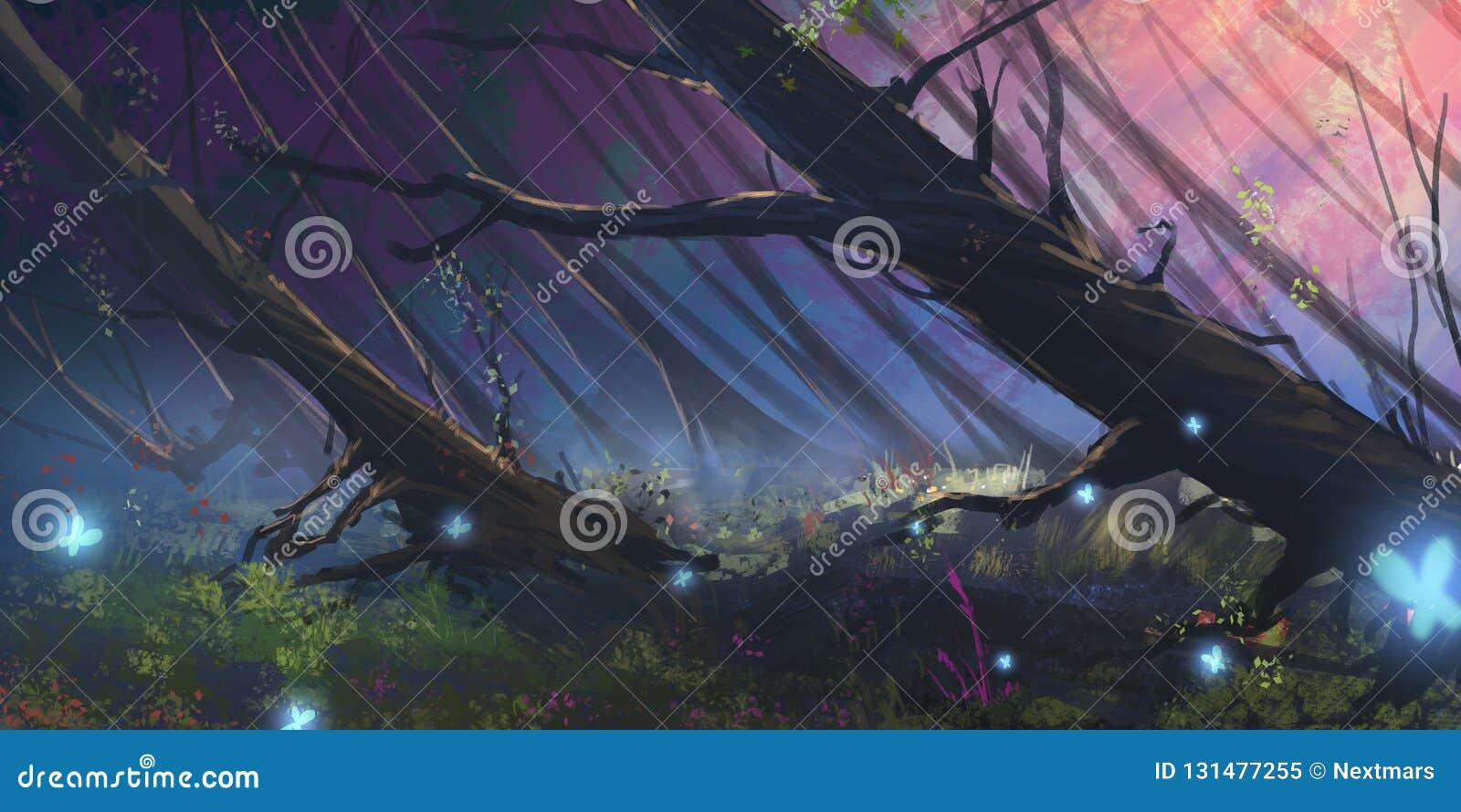 Ciemny Lasowy Realistyczny styl