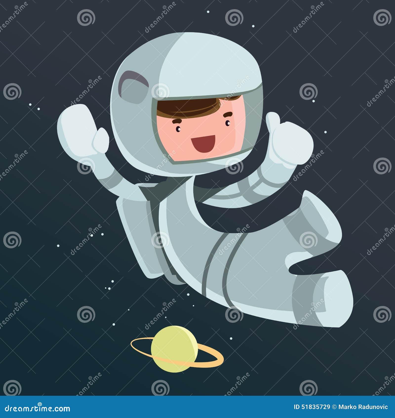 Cient fico del astronauta en personaje de dibujos animados - Dibujos infantiles del espacio ...