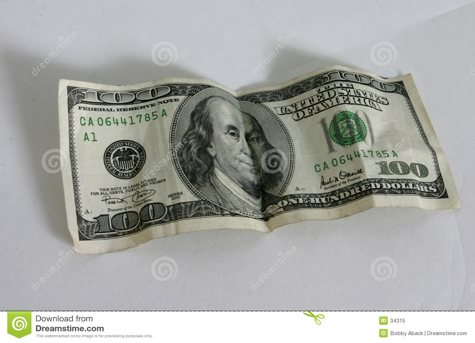 Download Cientos dólares Bill imagen de archivo. Imagen de cuenta - 34315