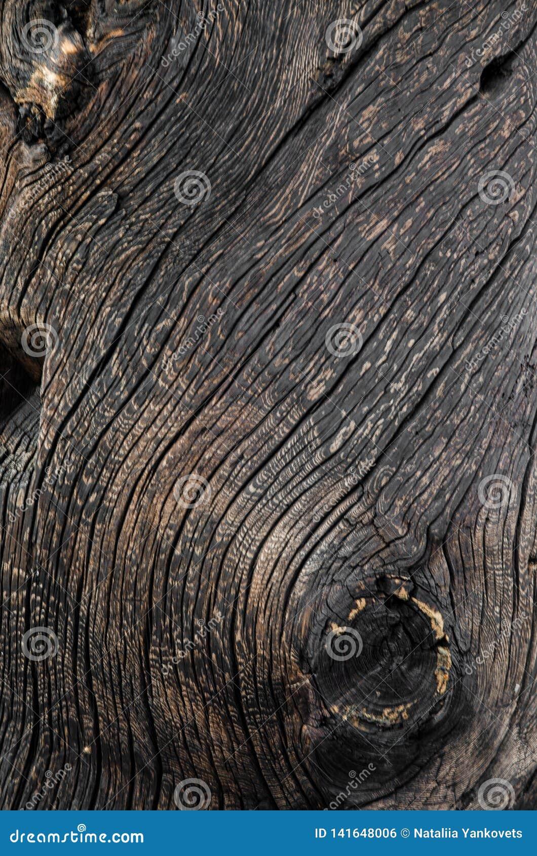 Cierre de madera envejecido vintage de la textura del fondo del marrón oscuro para arriba