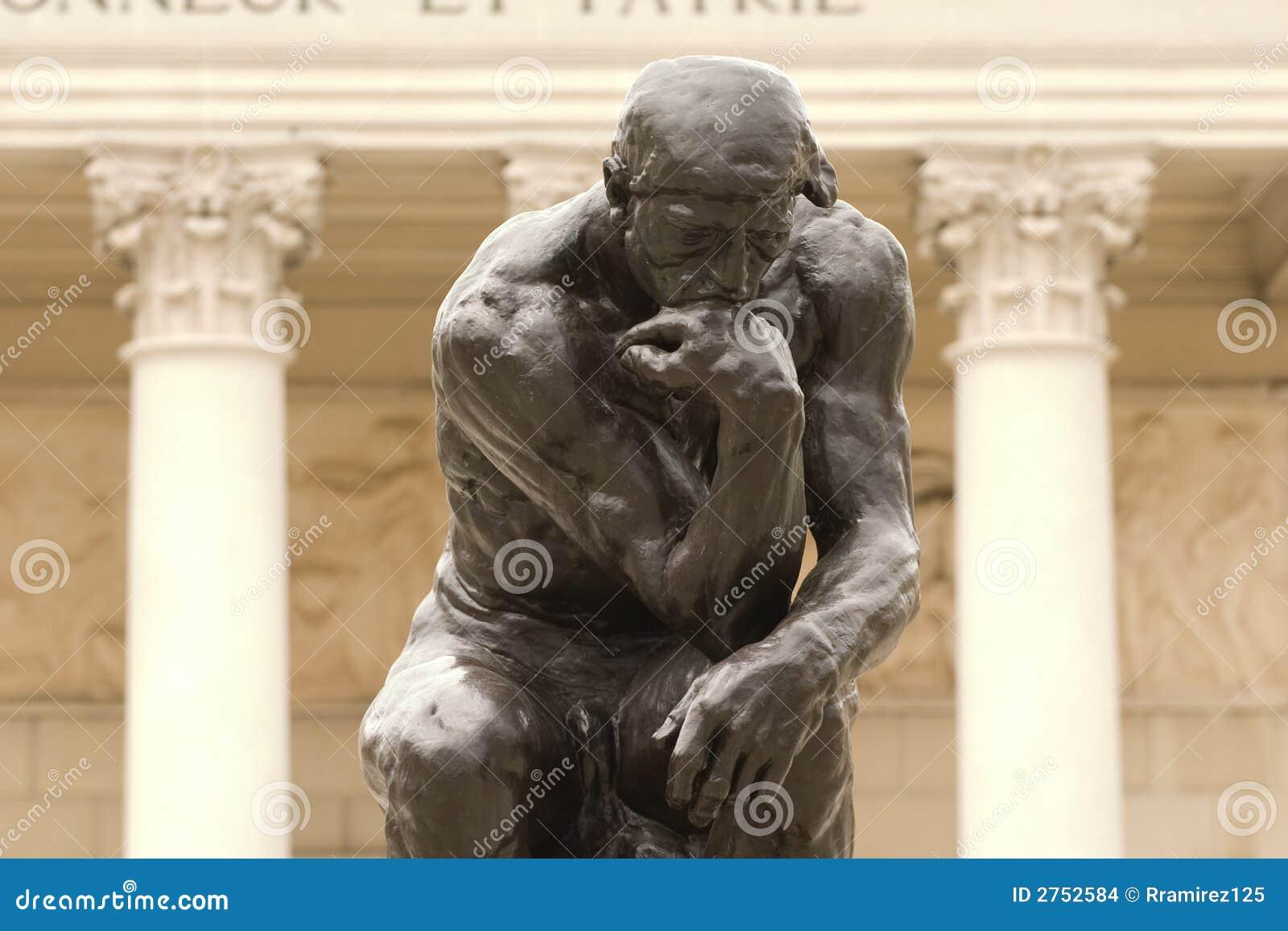 Cierre del pensador de Rodin para arriba