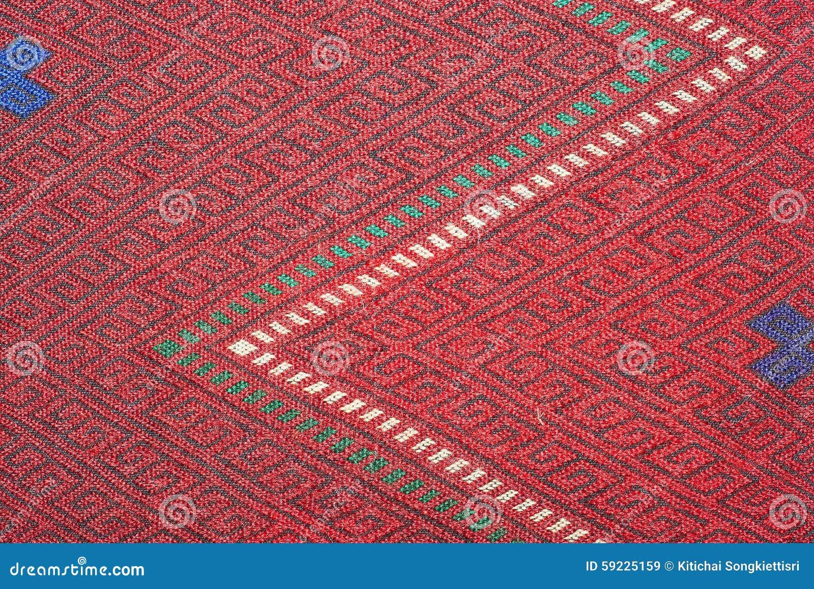 Cierre peruano de la superficie de la manta del estilo de la artesanía de seda tailandesa colorida encima de más este adorno y de