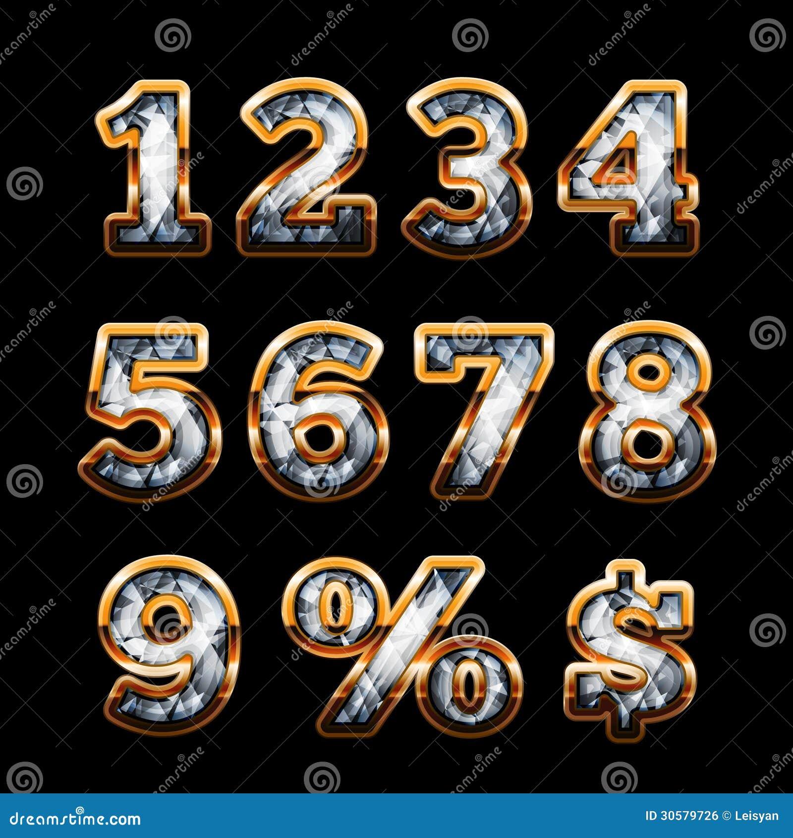 Cifre dell oro e del diamante