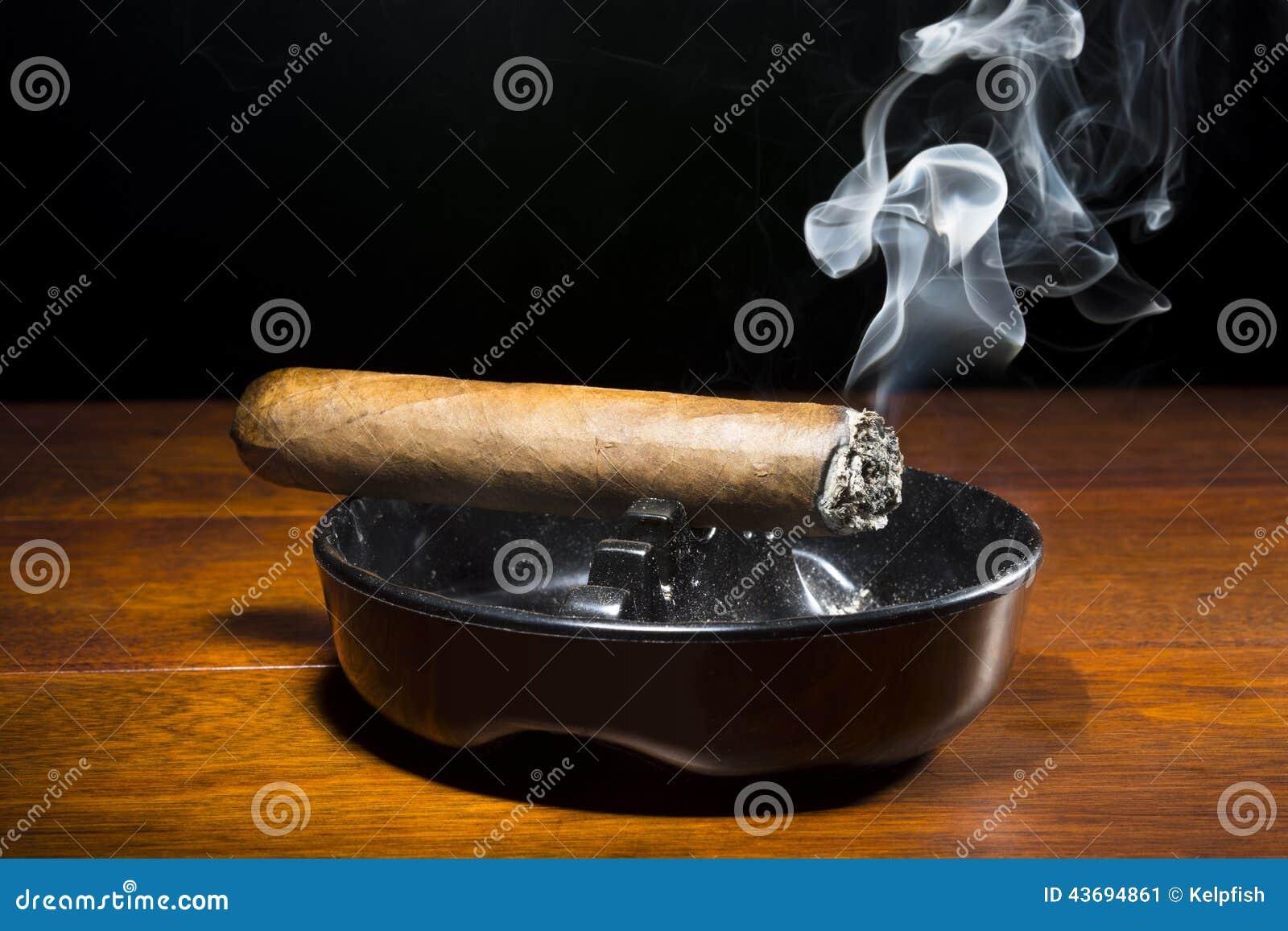 Cigar In Ashtray Stock Photo Image 43694861