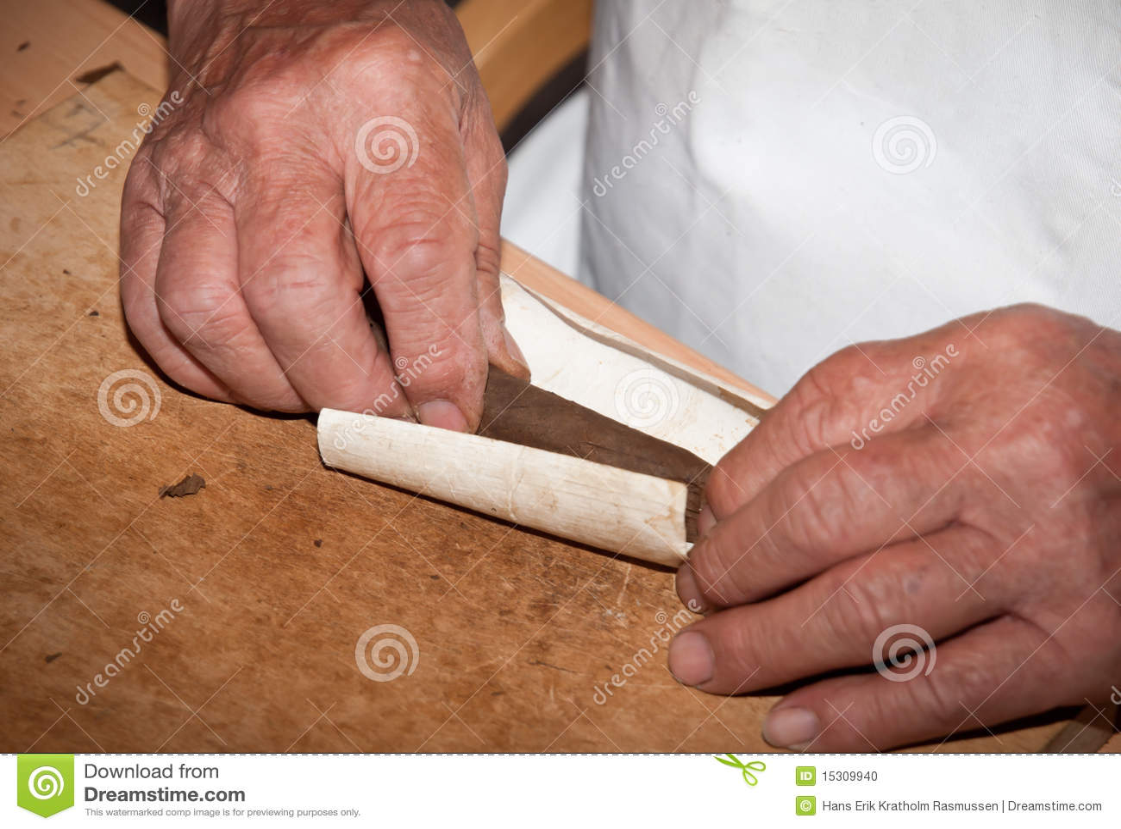 Cigar makers hands