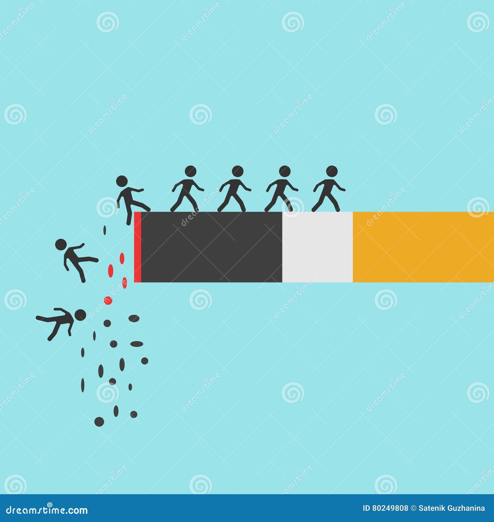 Cigarettbränning med folk