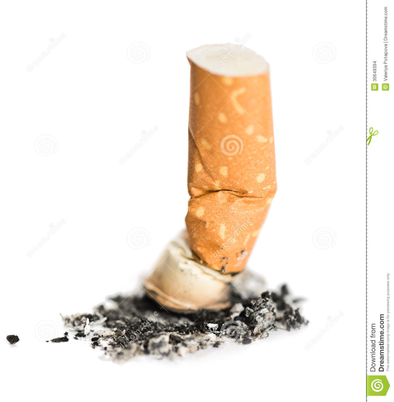 Download Cigarette stock photo. Image of nicotine, broken, object - 30649394