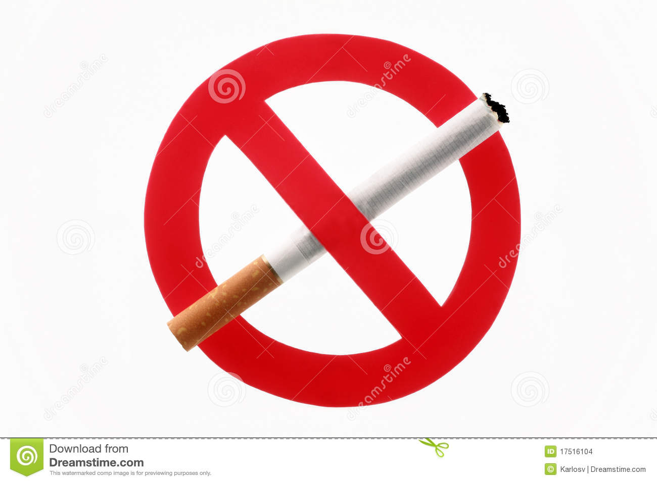 Cigarette Crossed Out By An Interdiction Sign Stock Images - Image ...
