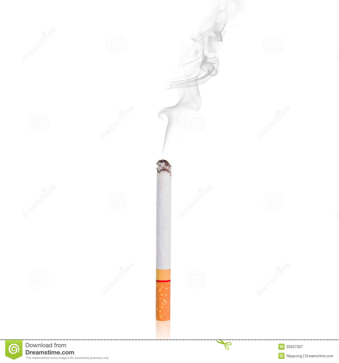 Cigarette With Smoke Medical Black