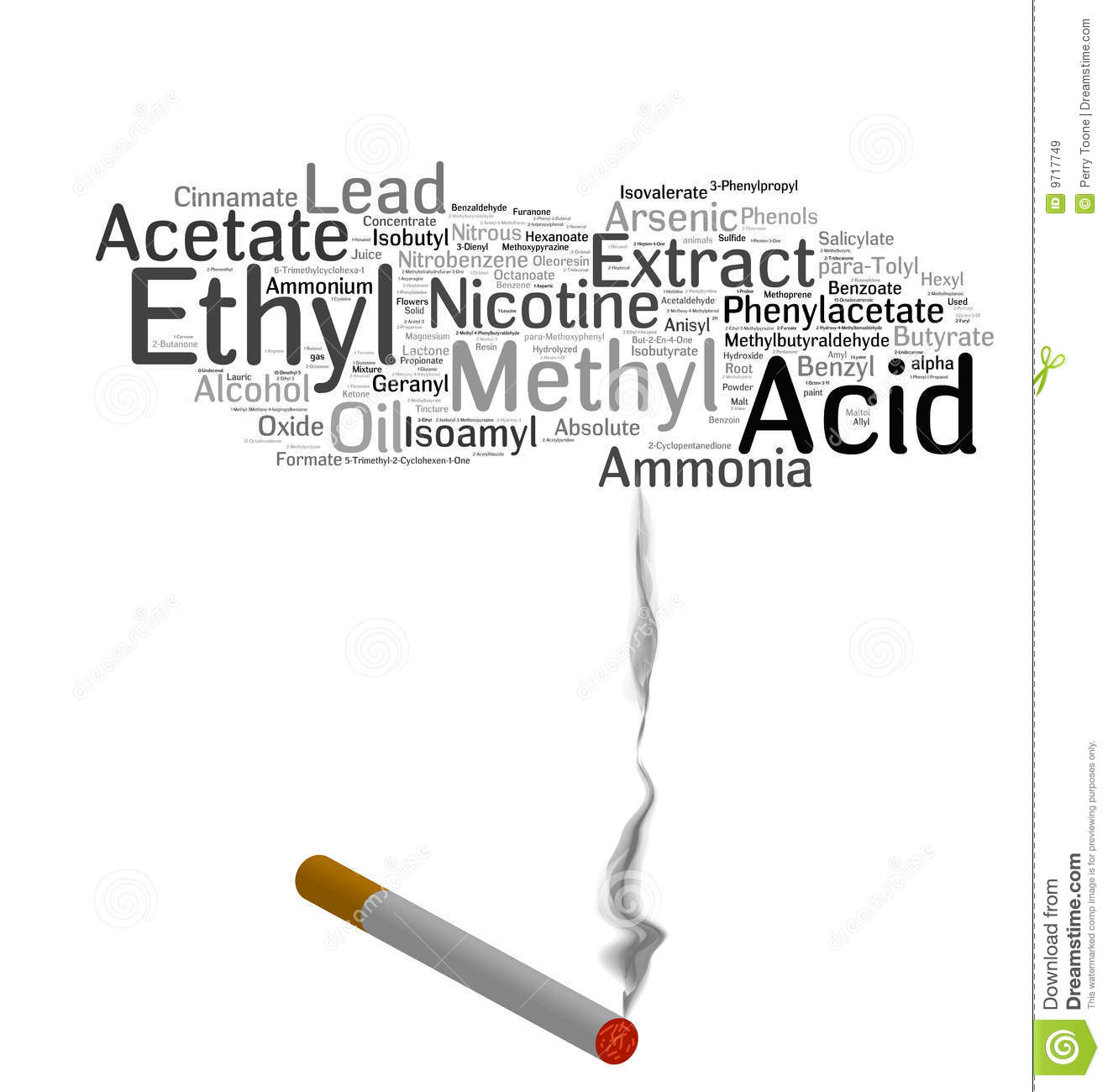 Cigarette Smoking Chemicals Royalty Free Stock Images - Image: 9717749