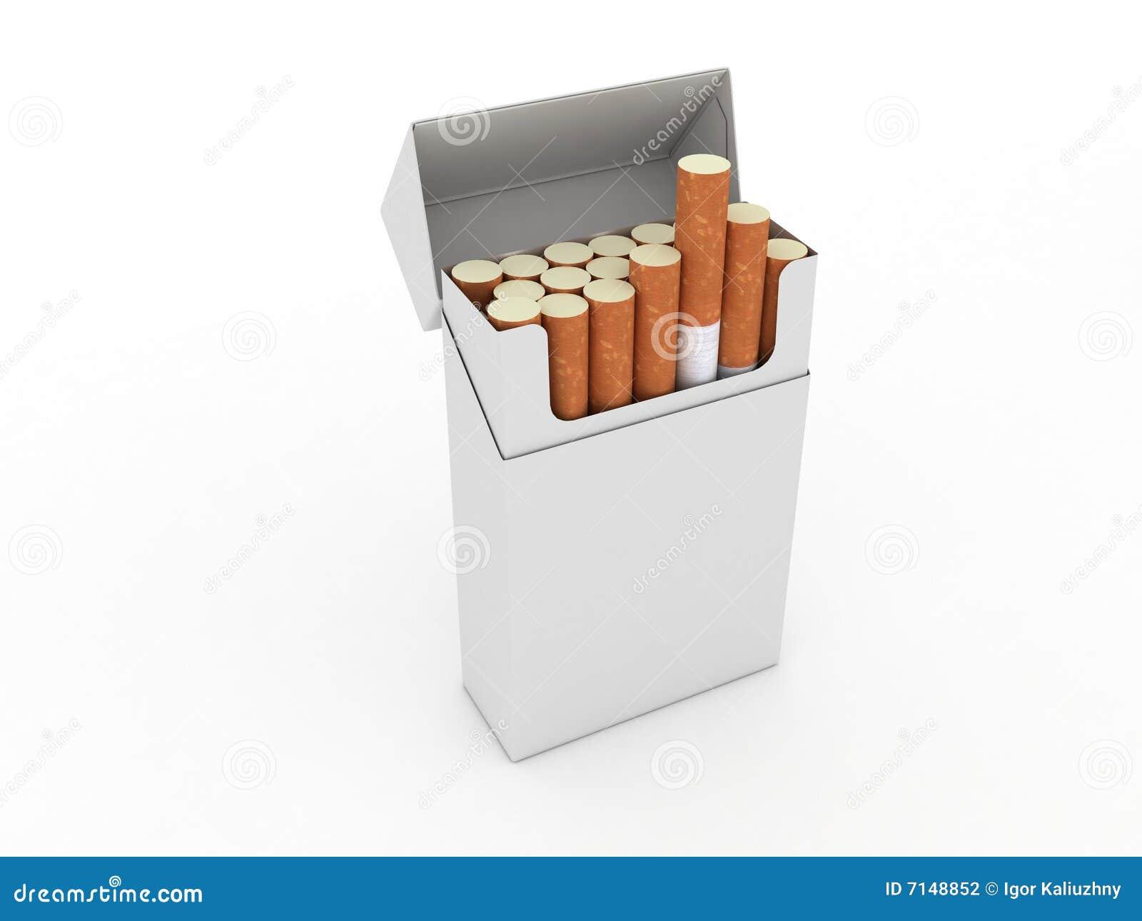 Cigaretter öppnar packen