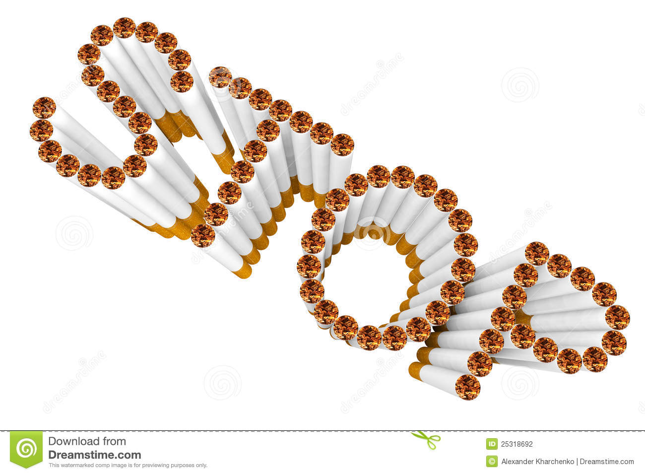 Cigarettes as stop word stock photography image 25318692