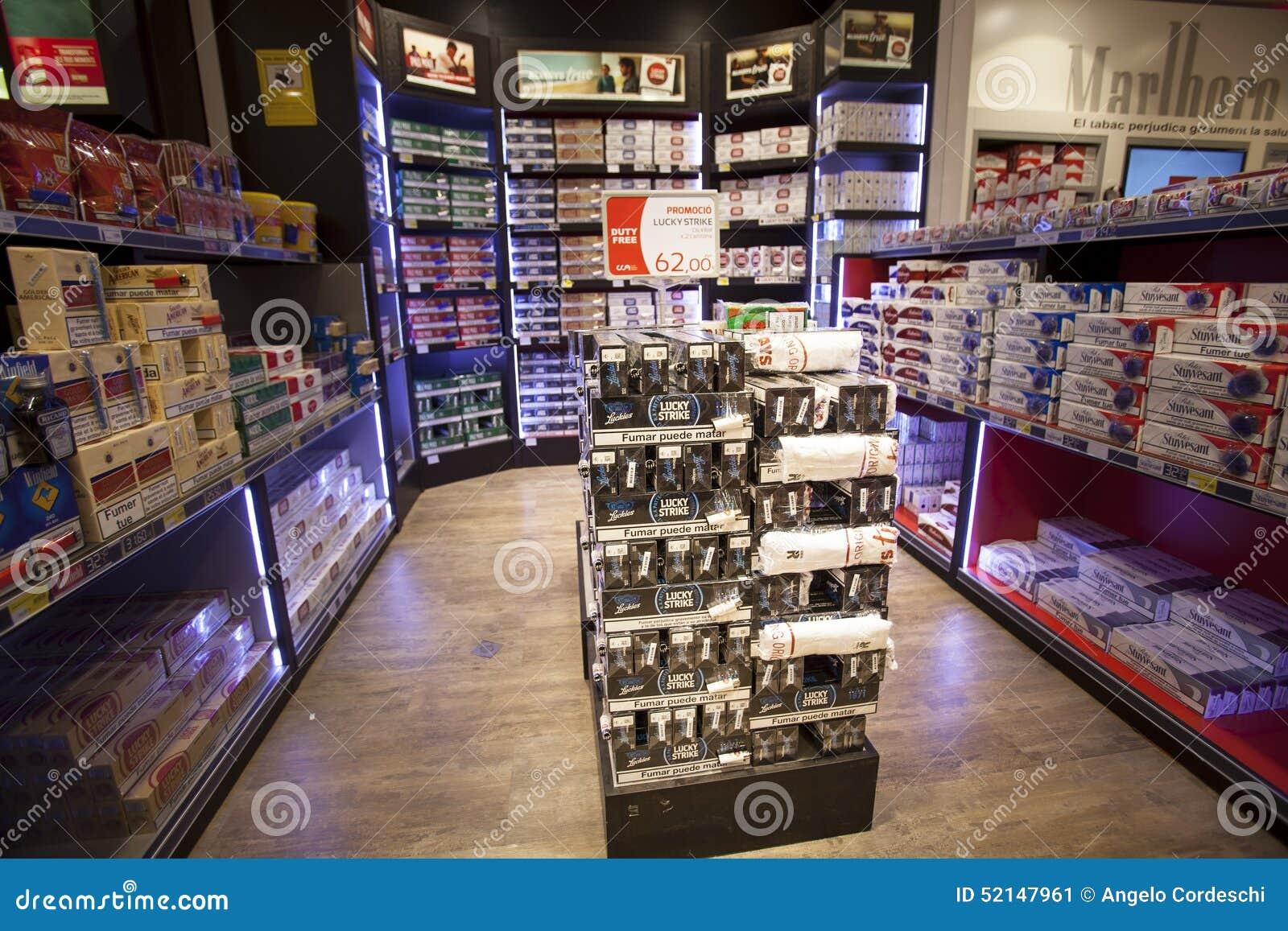 Cigarettes Store Shelves Store Editorial Photo Image