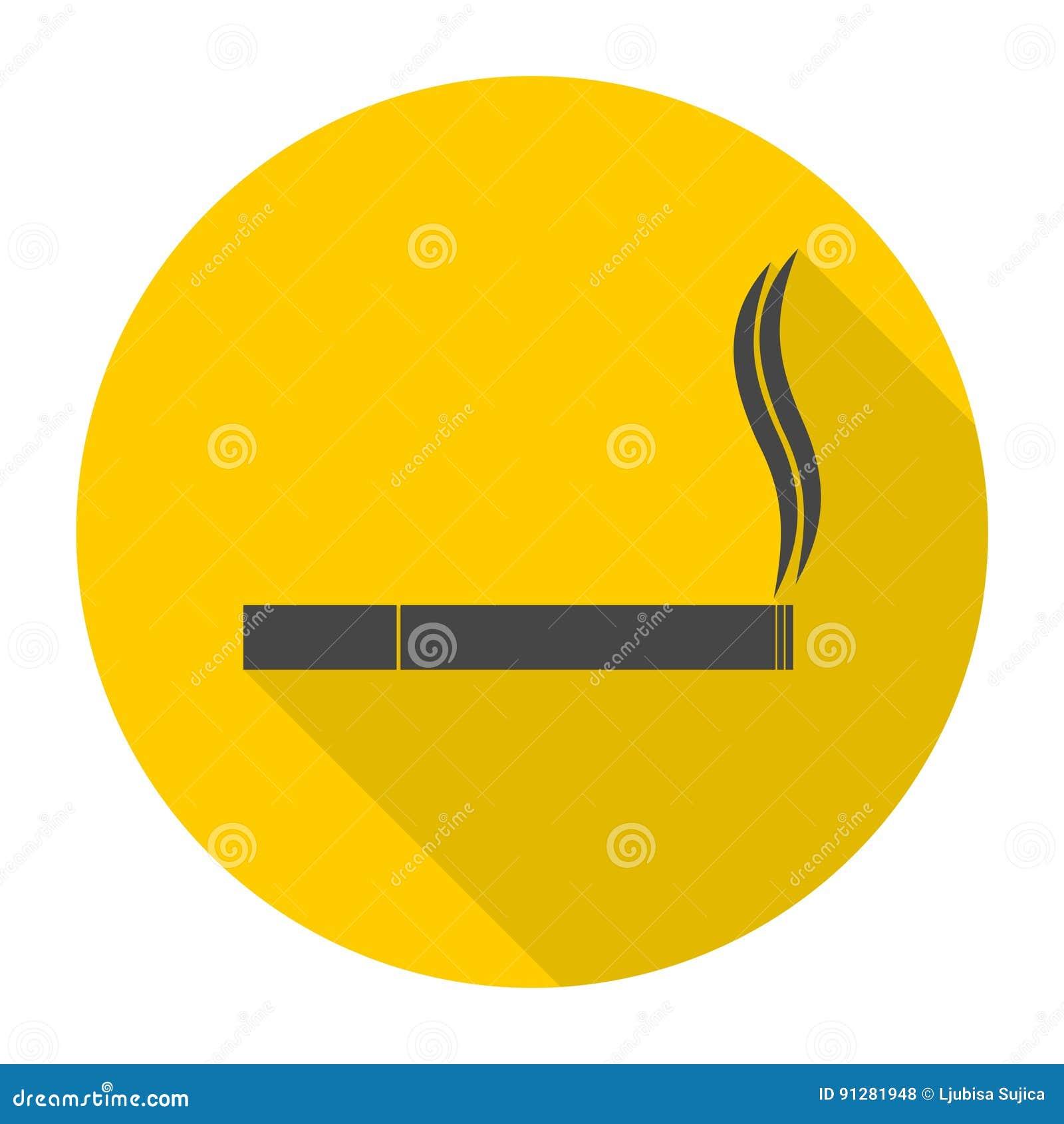 Cigarettsymbol med lång skugga