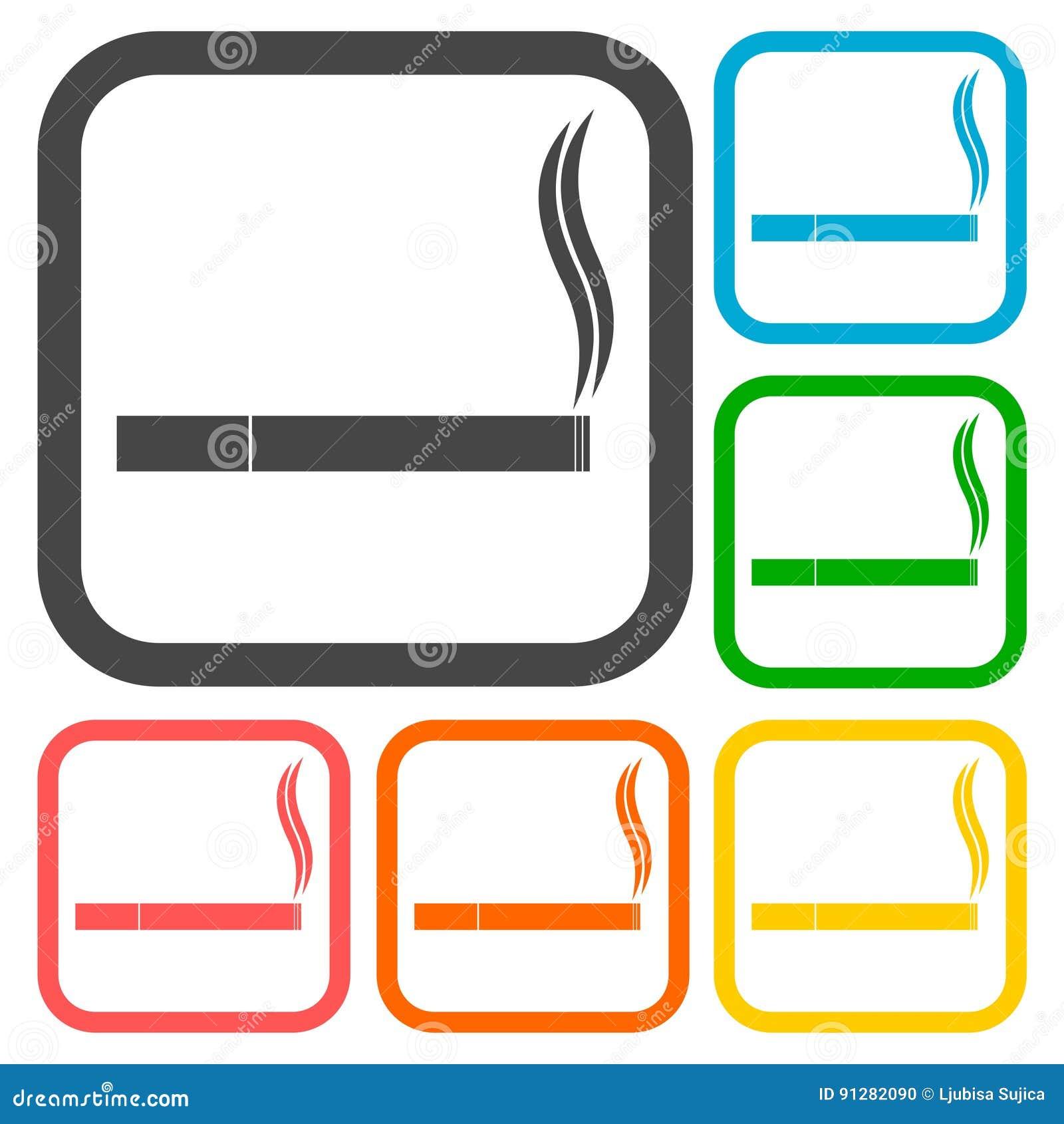 Cigarettsymbolsuppsättning