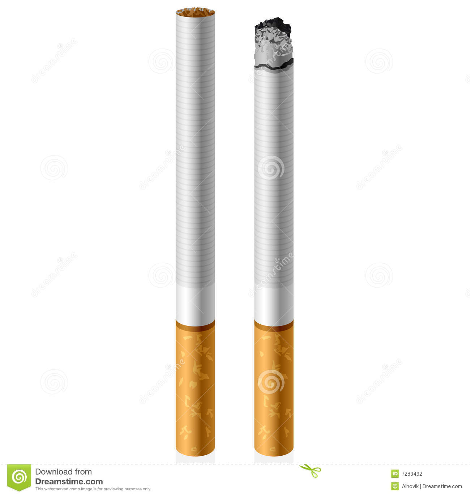 Cigarrillo del vector