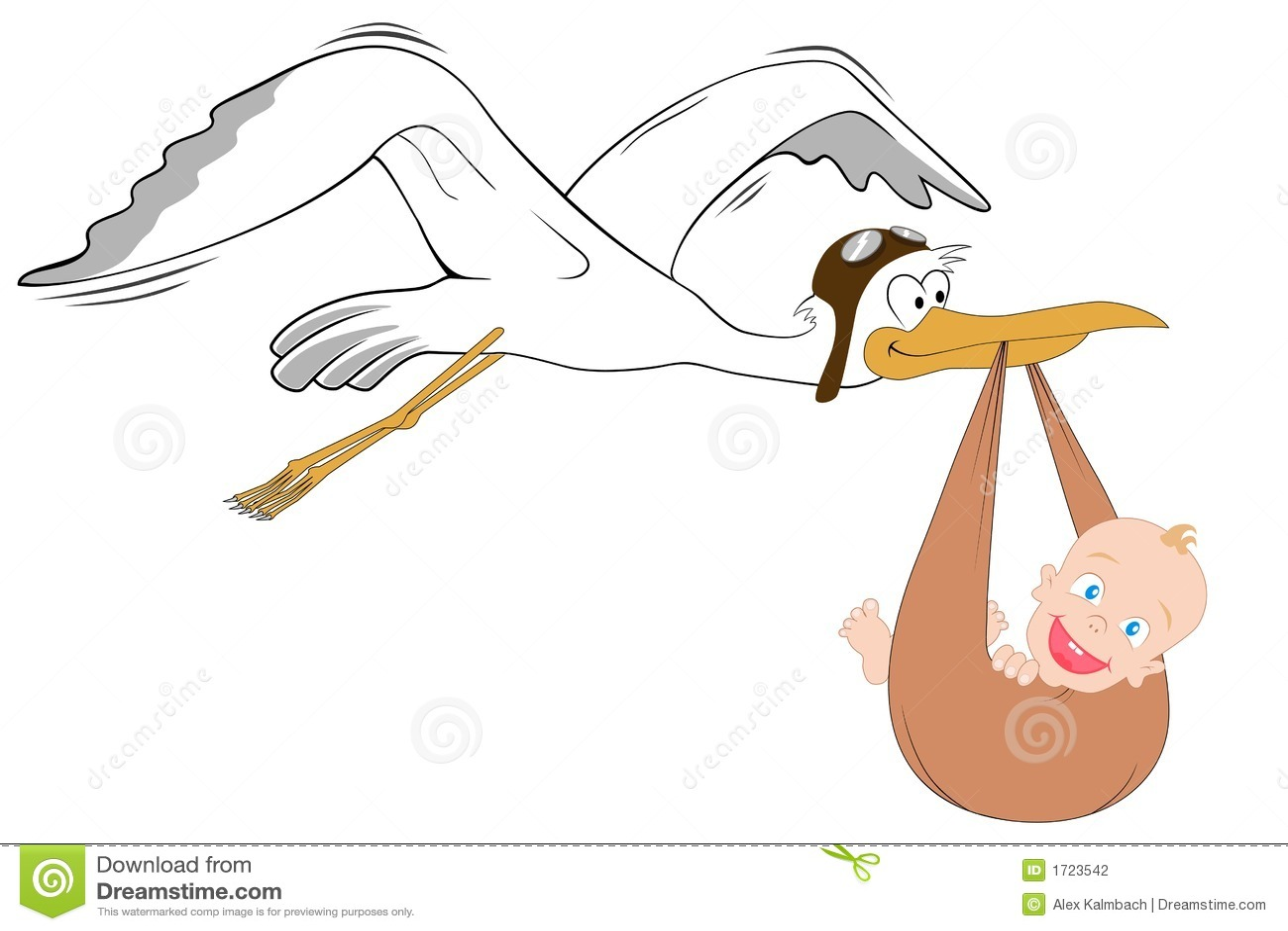 Cigogne avec la chéri