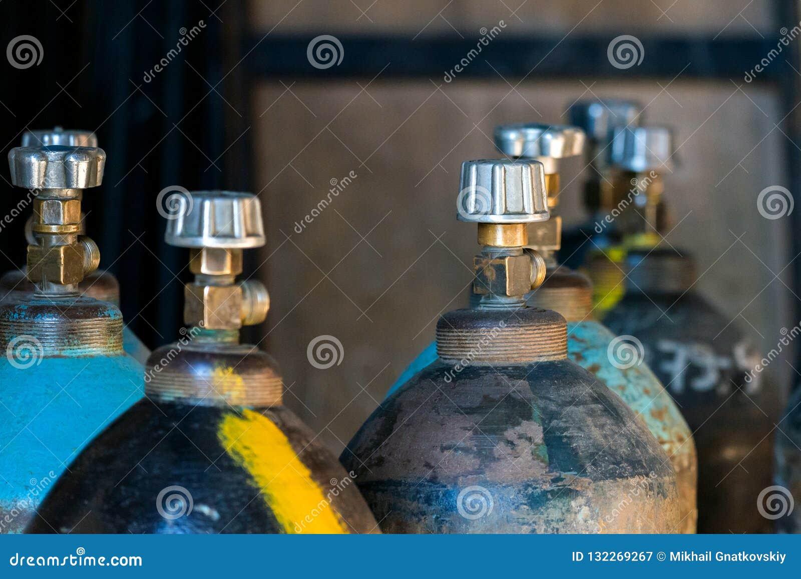 Cilinder met kooldioxide Tanks met samengeperst gas voor indu