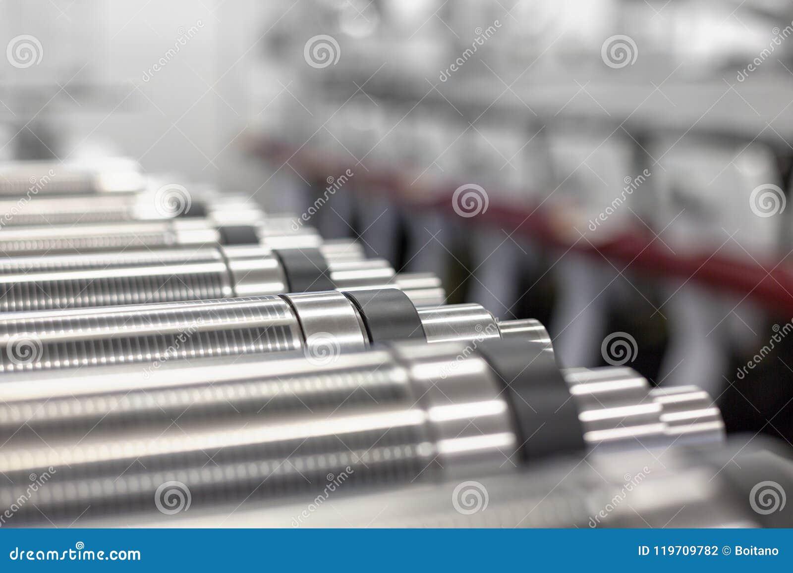 Cilindros magnéticos alinhados para cortado na máquina impressora giratória Cilindro magnético para cortar giratório do flexo