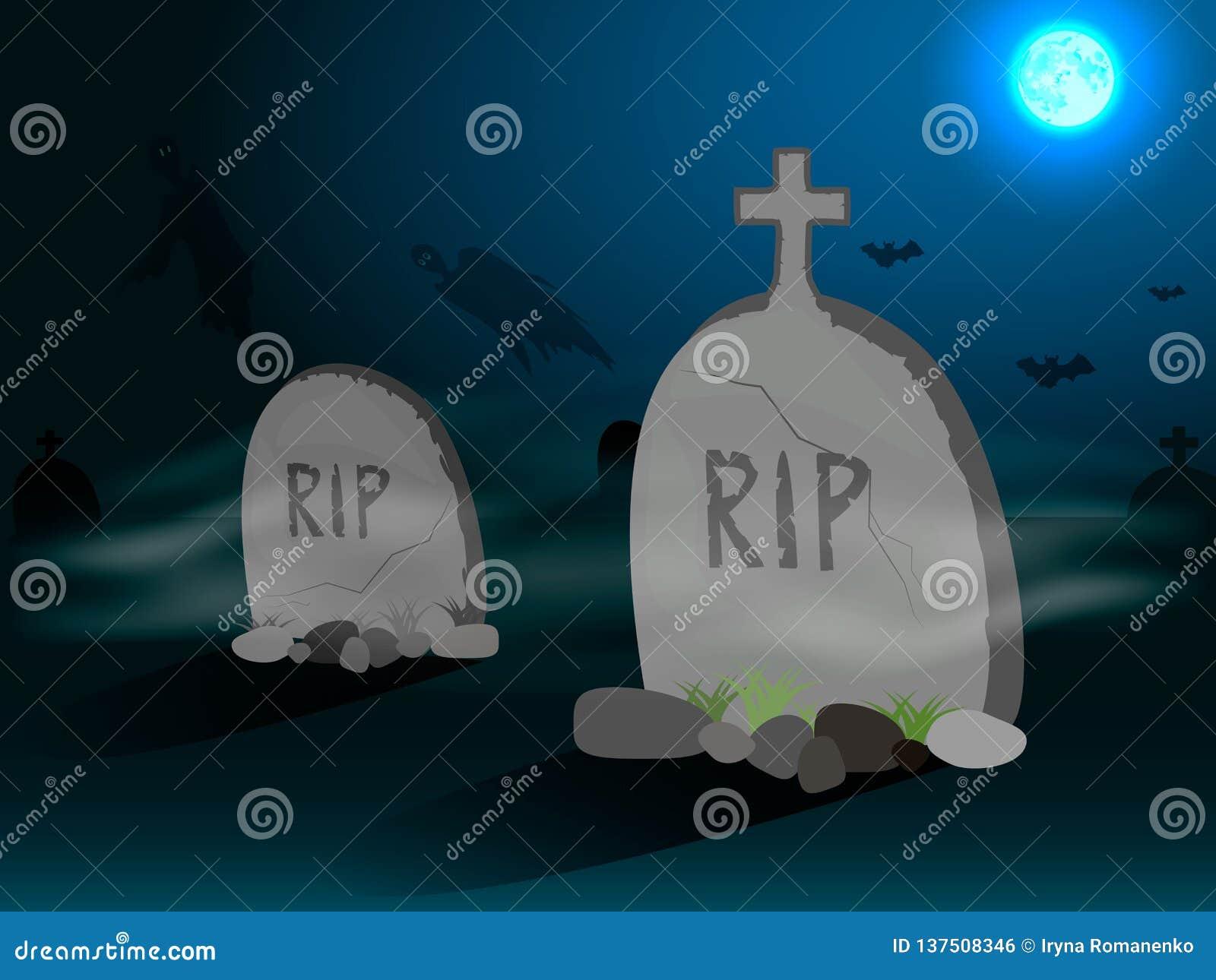 Cimetière avec des pierres tombales dans