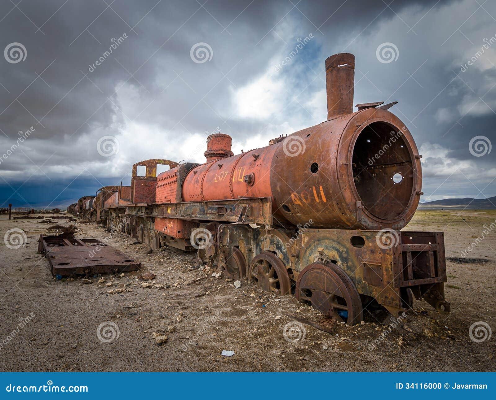 Cimetière de train, Uyuni, Bolivie